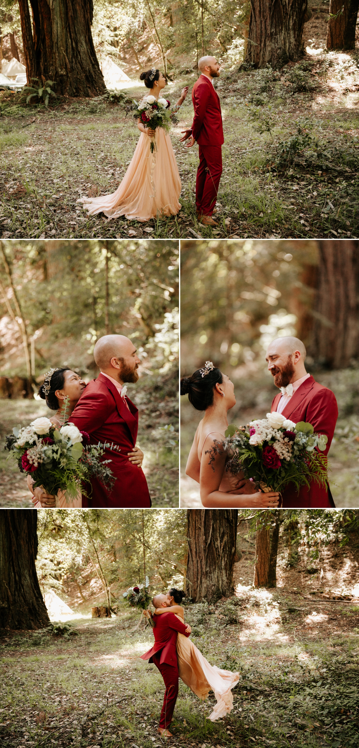 First look in Redwood Grove by Paige Nelson Photography