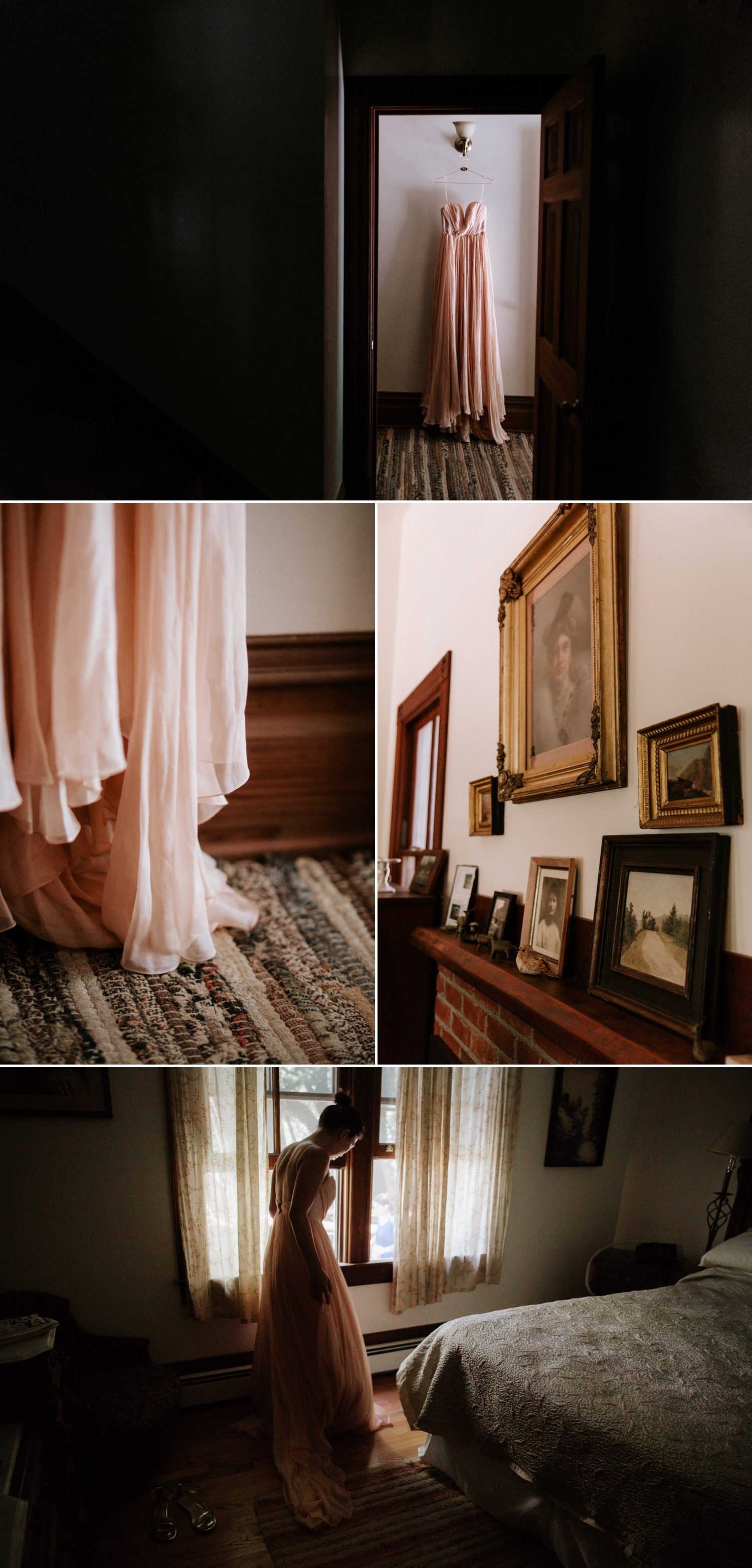 Blush wedding dress inspiration by Leanne Marshall, Photos by Paige Nelson