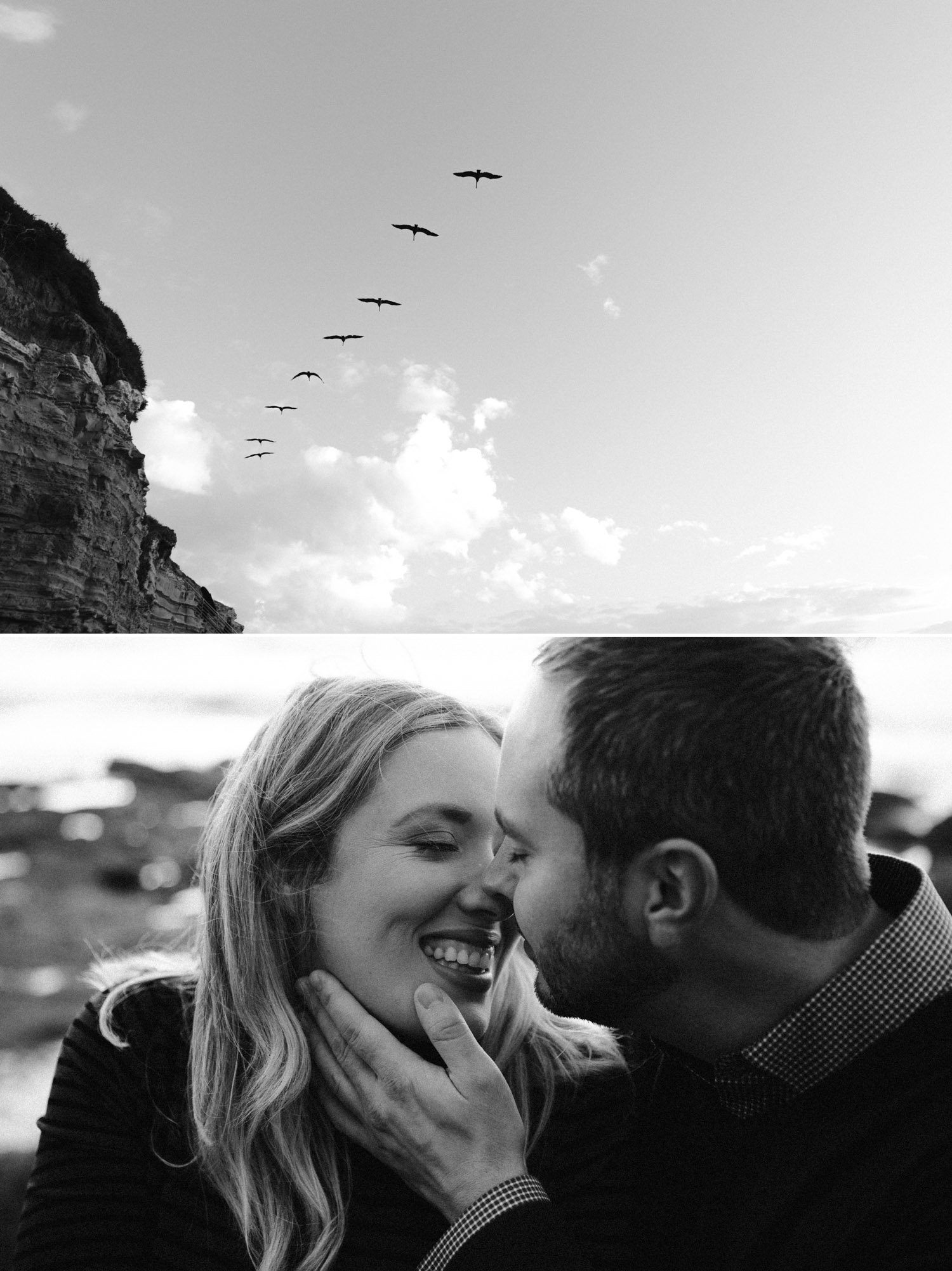 Sunset Cliffs engagement in San Diego by Paige Nelson