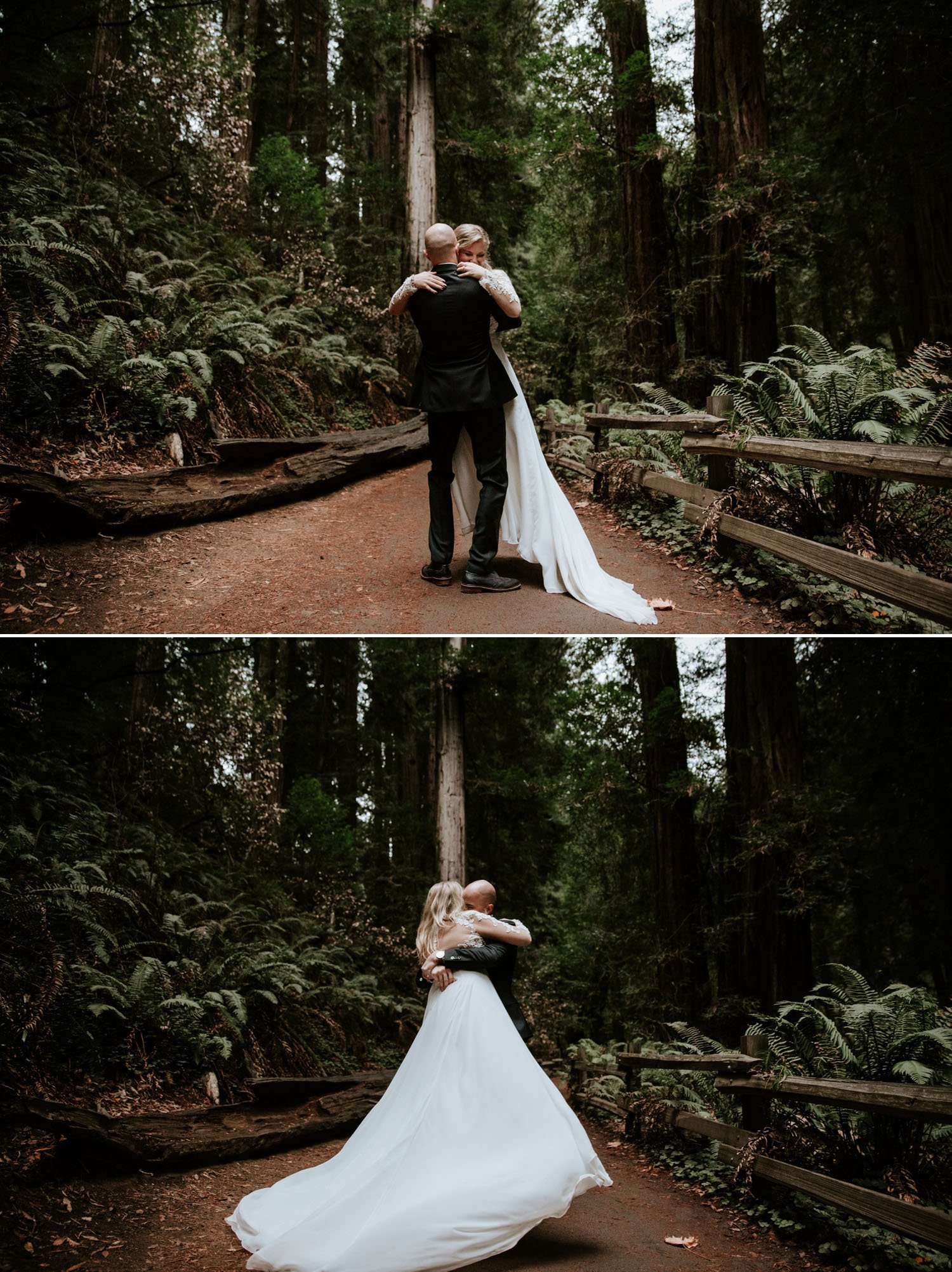 Forest wedding in San Francisco Muir Woods by Paige Nelson