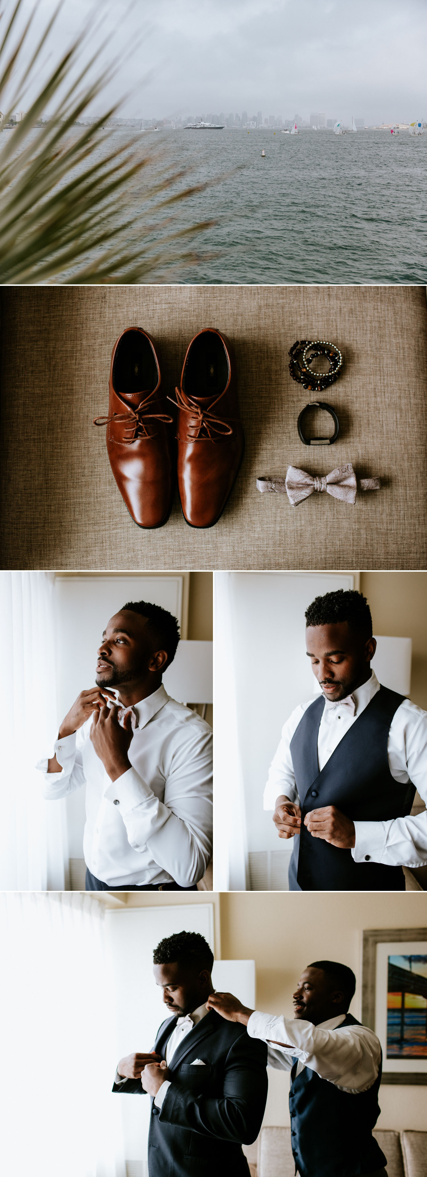 Bohemian San Diego Harbor wedding by Paige Nelson