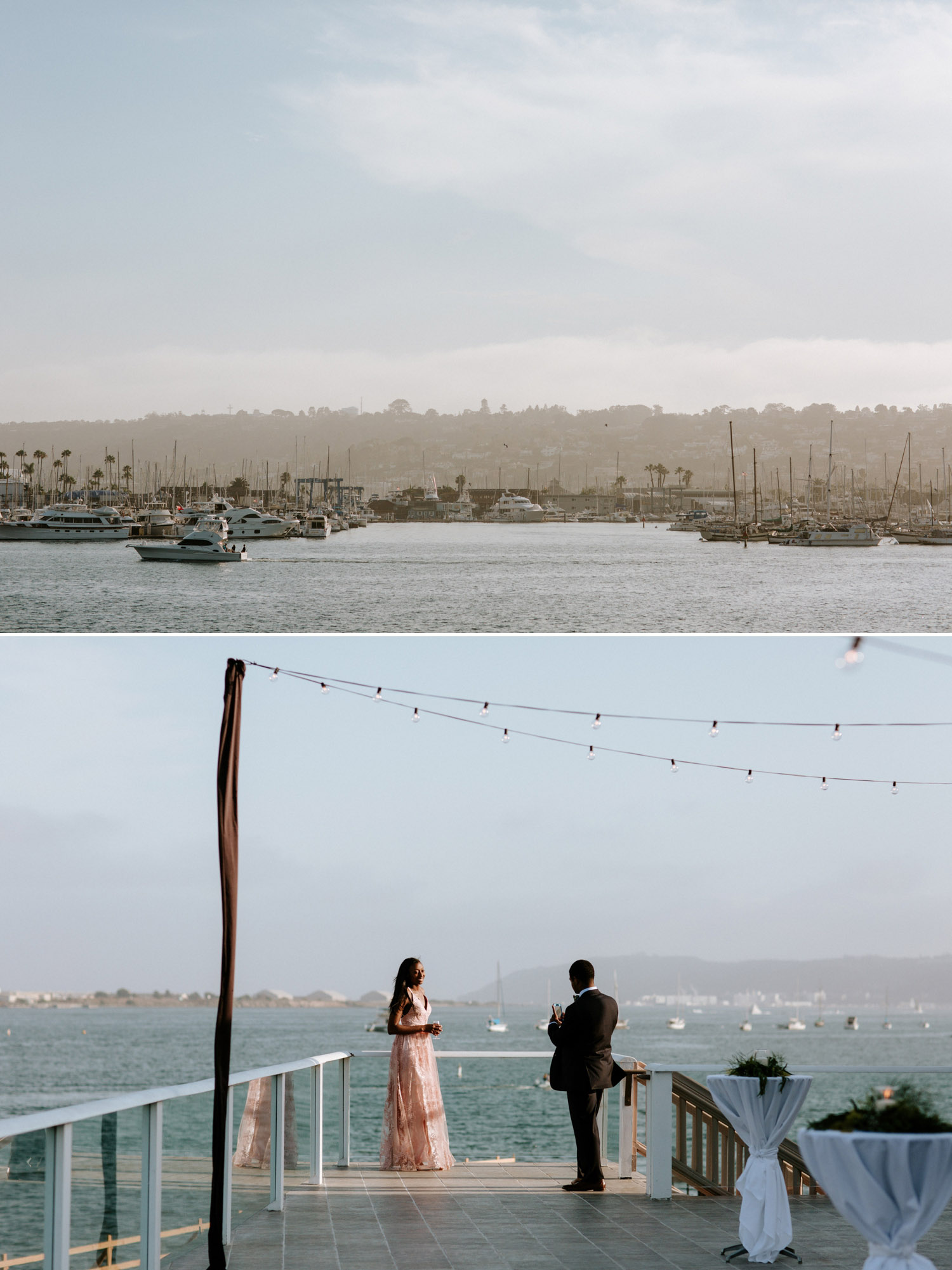 San Diego summer harbor wedding
