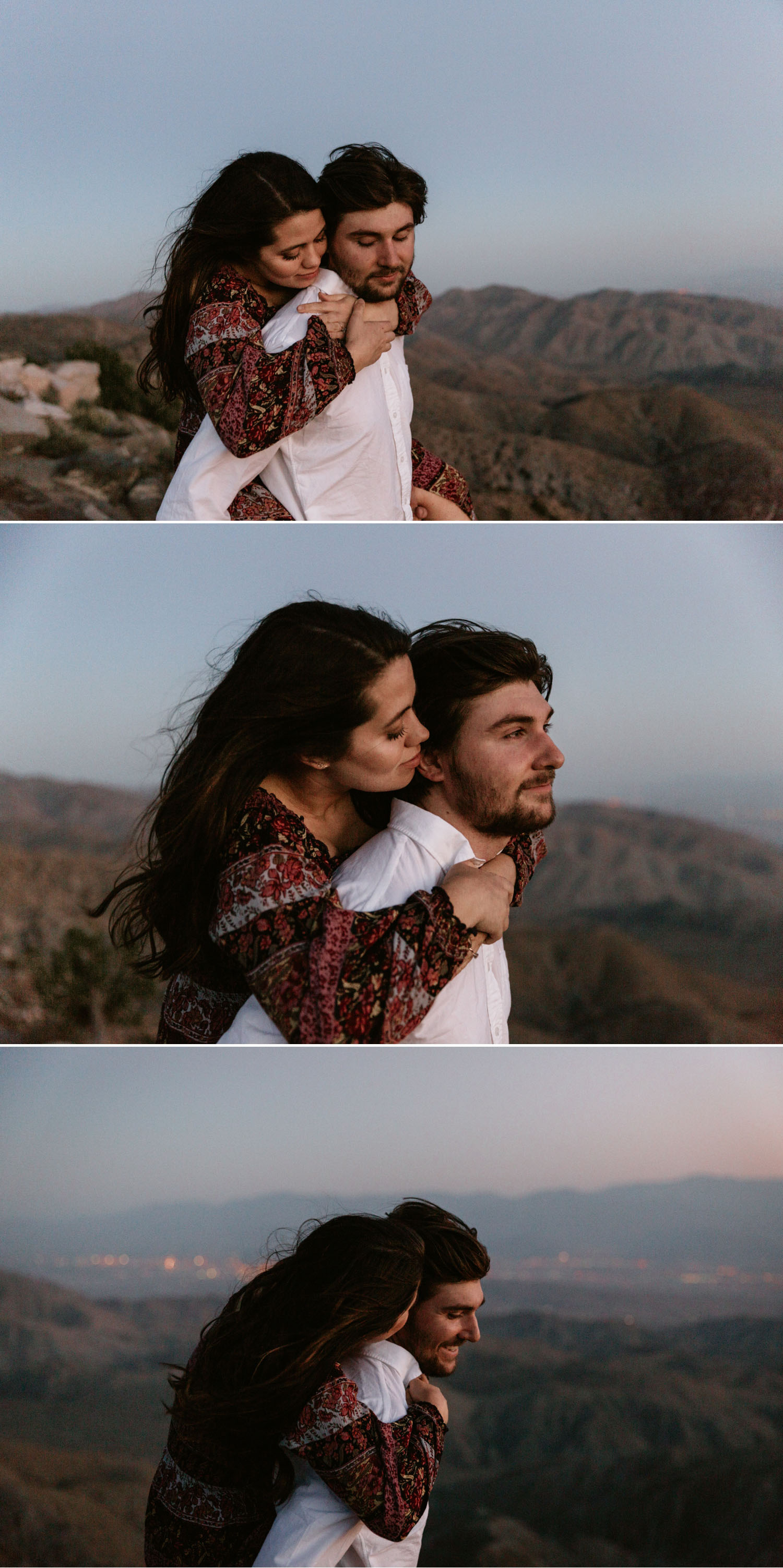 Olivia and Ricky's Golden Desert engagement in Joshua Tree by San Diego photographer Paige Nelson