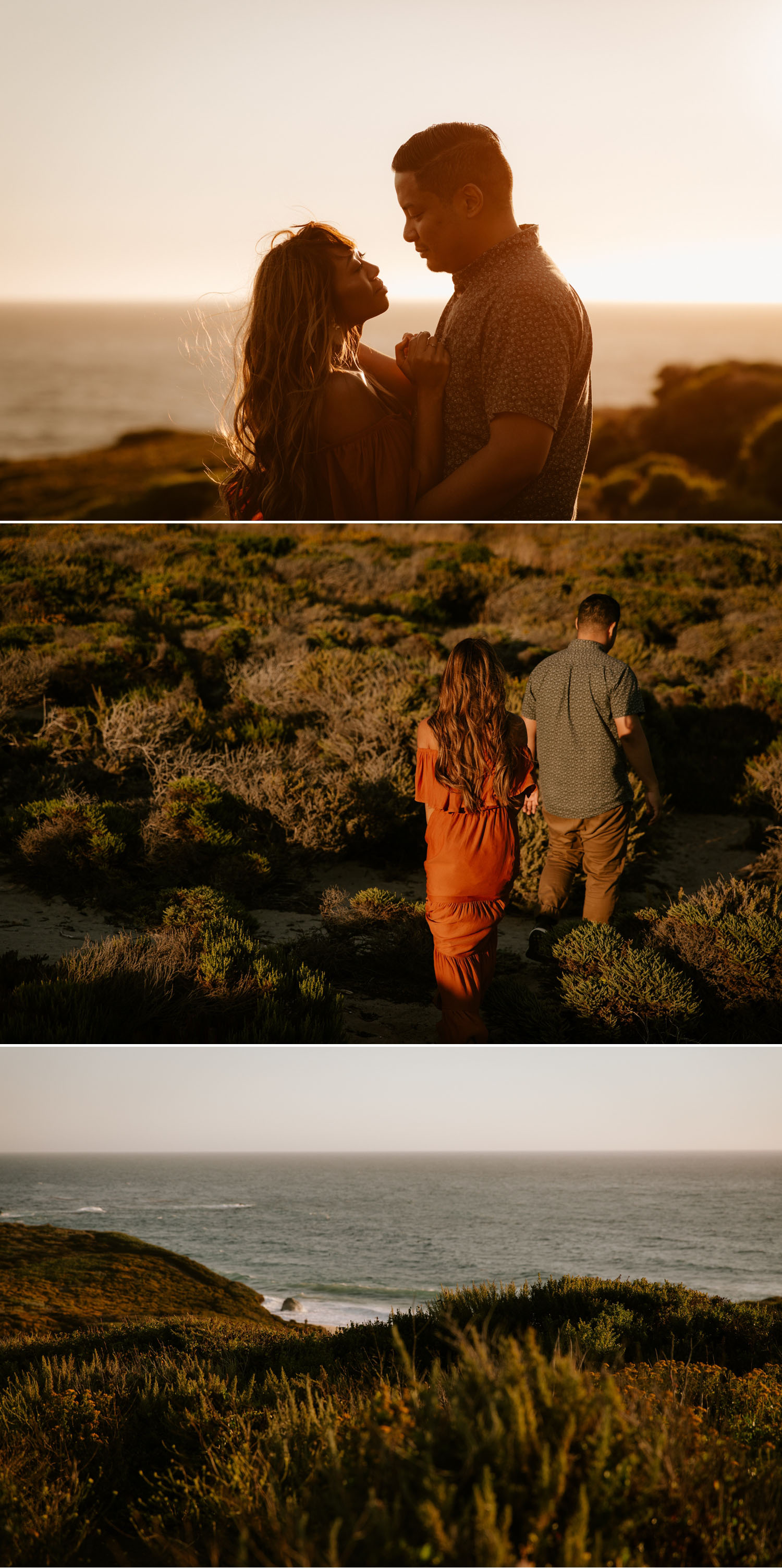 Garrapata State Park engagement in Big Sur, California by Paige Nelson