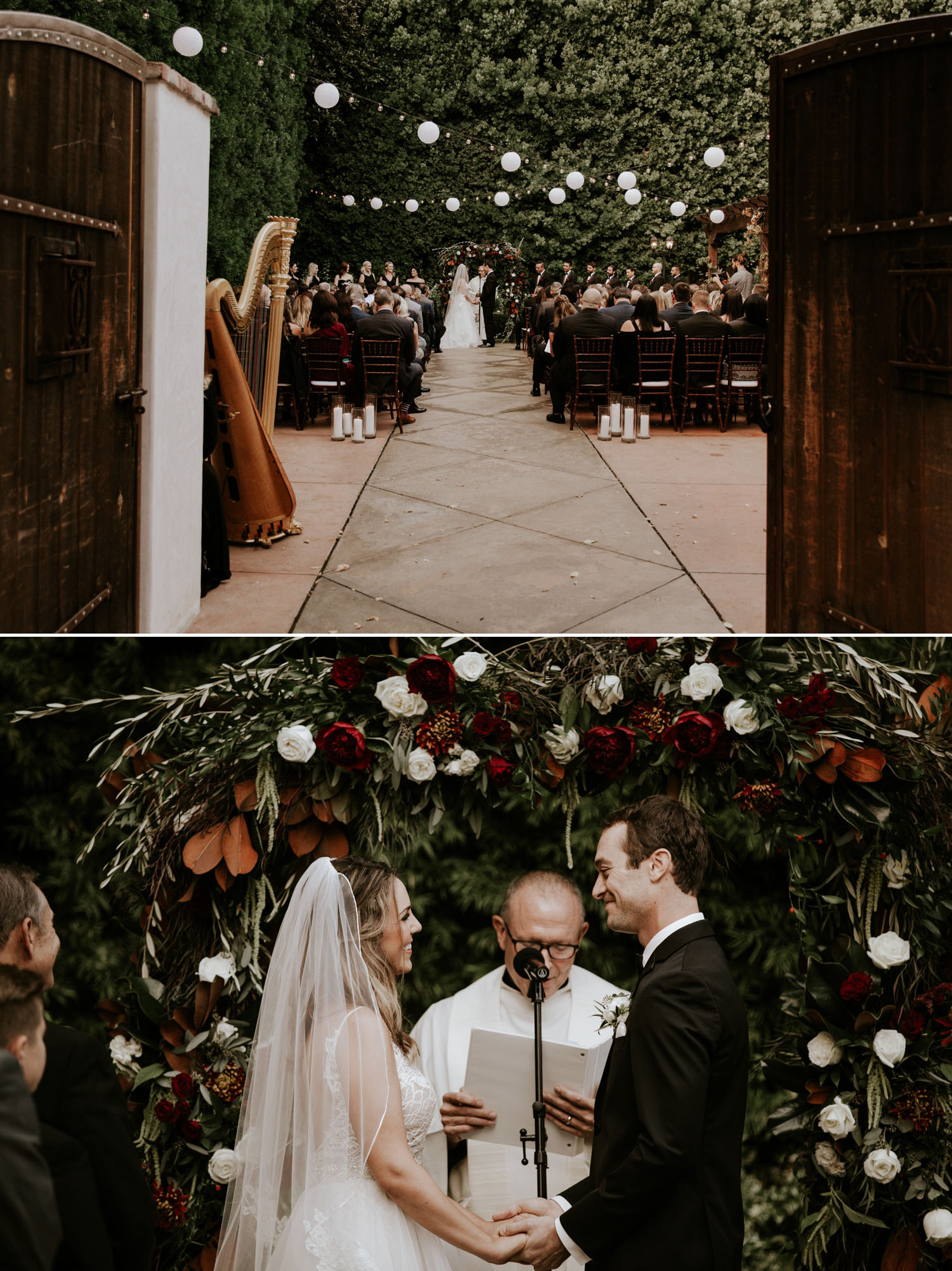 Intimate wedding at Franciscan Gardens in San Juan Capistrano
