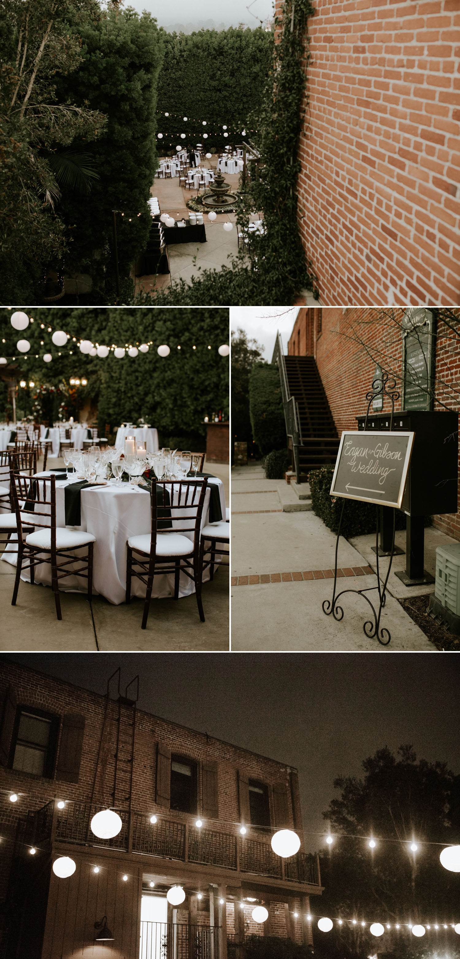 Intimate holiday wedding at Franciscan Gardens