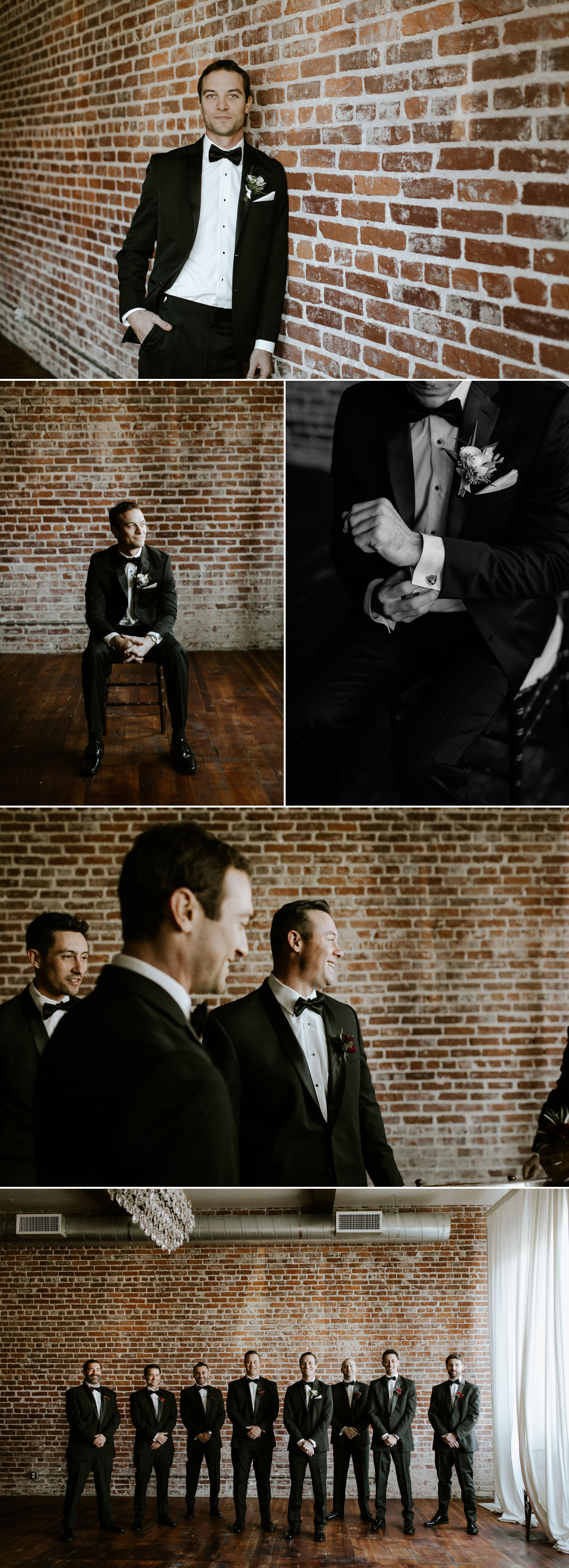 Black groom and groomsmen suit inspiration by Paige Nelson Photography