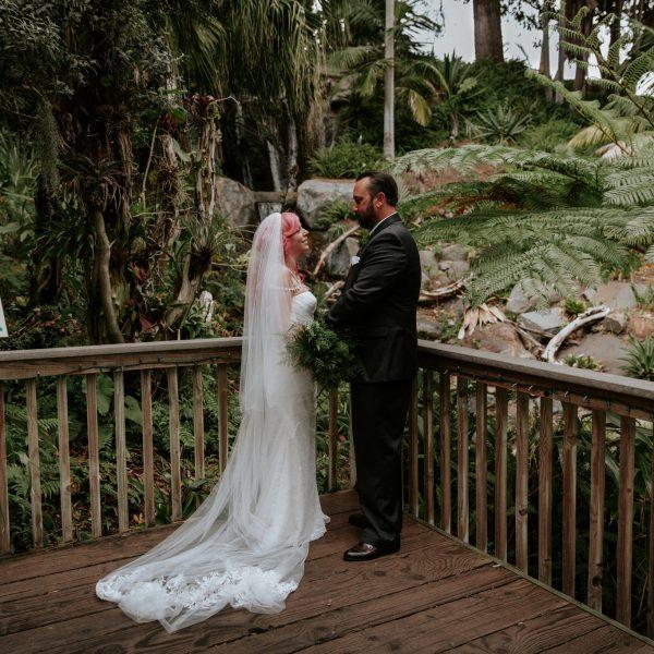 Intimate San Diego Botanic Garden Wedding