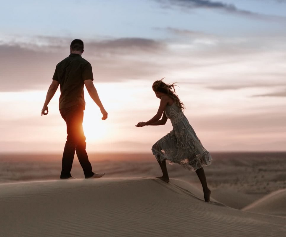 Imperial Sand Dunes engagement Paige Nelson