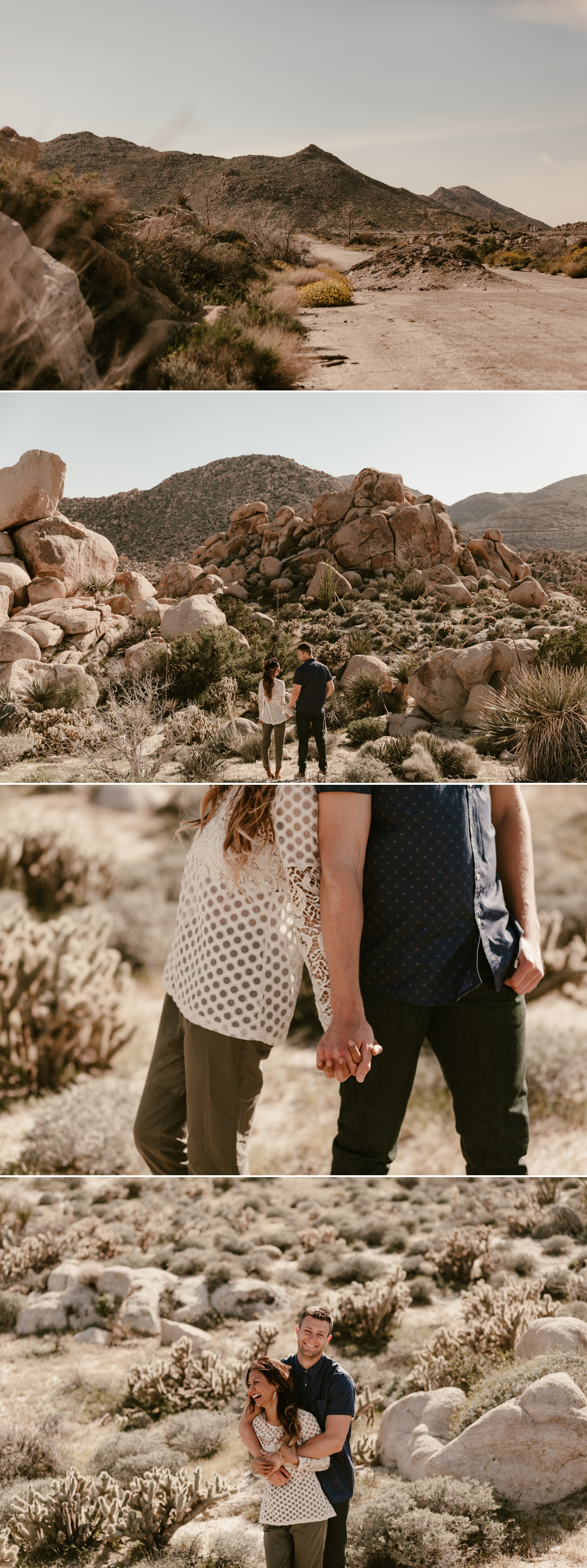 Desert engagement in Southern California by Paige Nelson