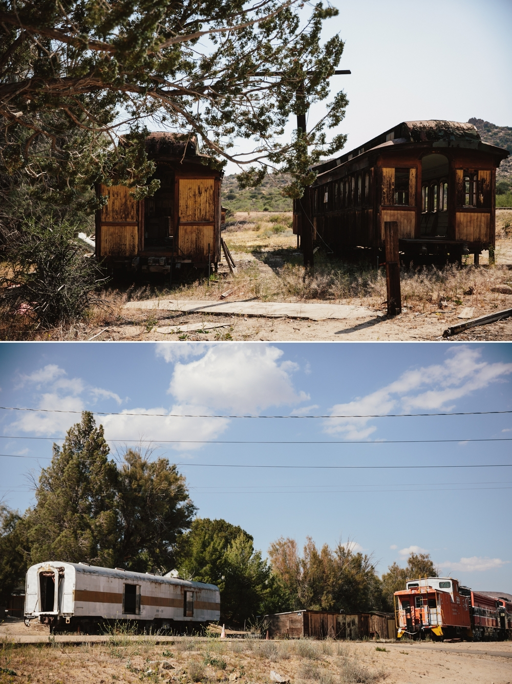 Abandoned trains in Jacumba by San Diego photographer Paige Nelson