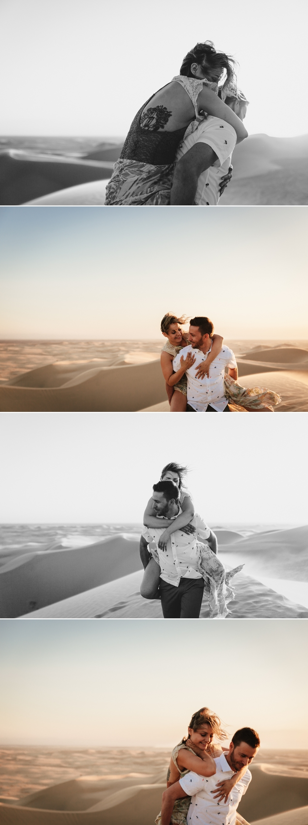 Sand Dunes engagement in Glamis by San Diego photographer Paige Nelson