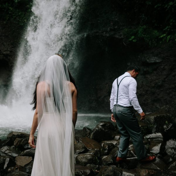 Intimate wedding at La Paz Waterfall Gardens