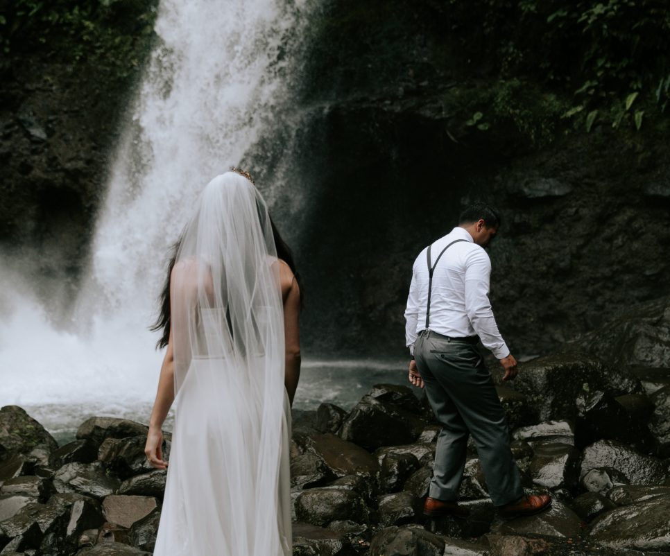 Waterfall elopement by Paige Nelson Photography