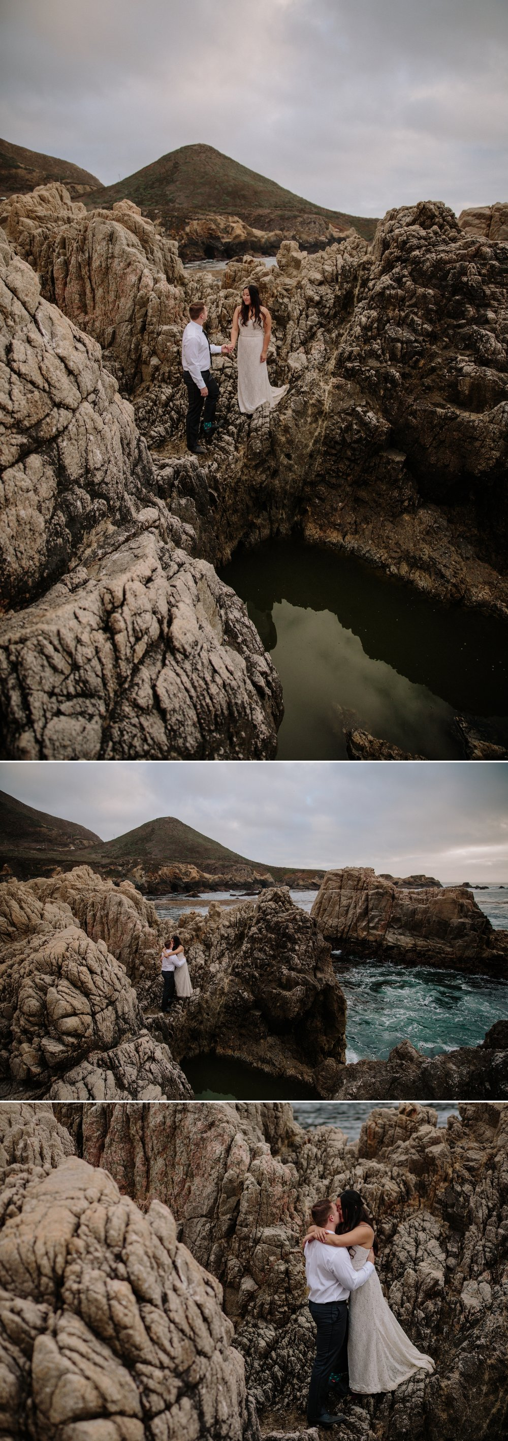 Wedding portraits at Garrapata State Park in Carmel by San Diego Photographer Paige Nelson