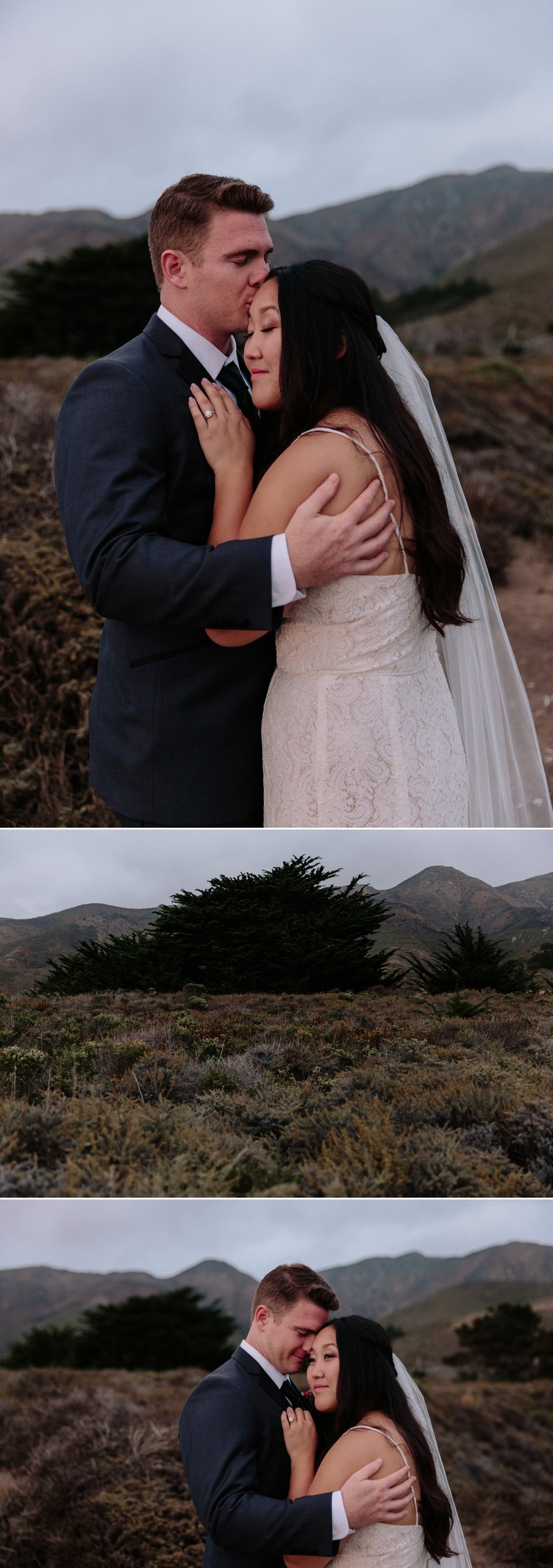 Wedding portraits at Garrapata in Carmel by Paige Nelson