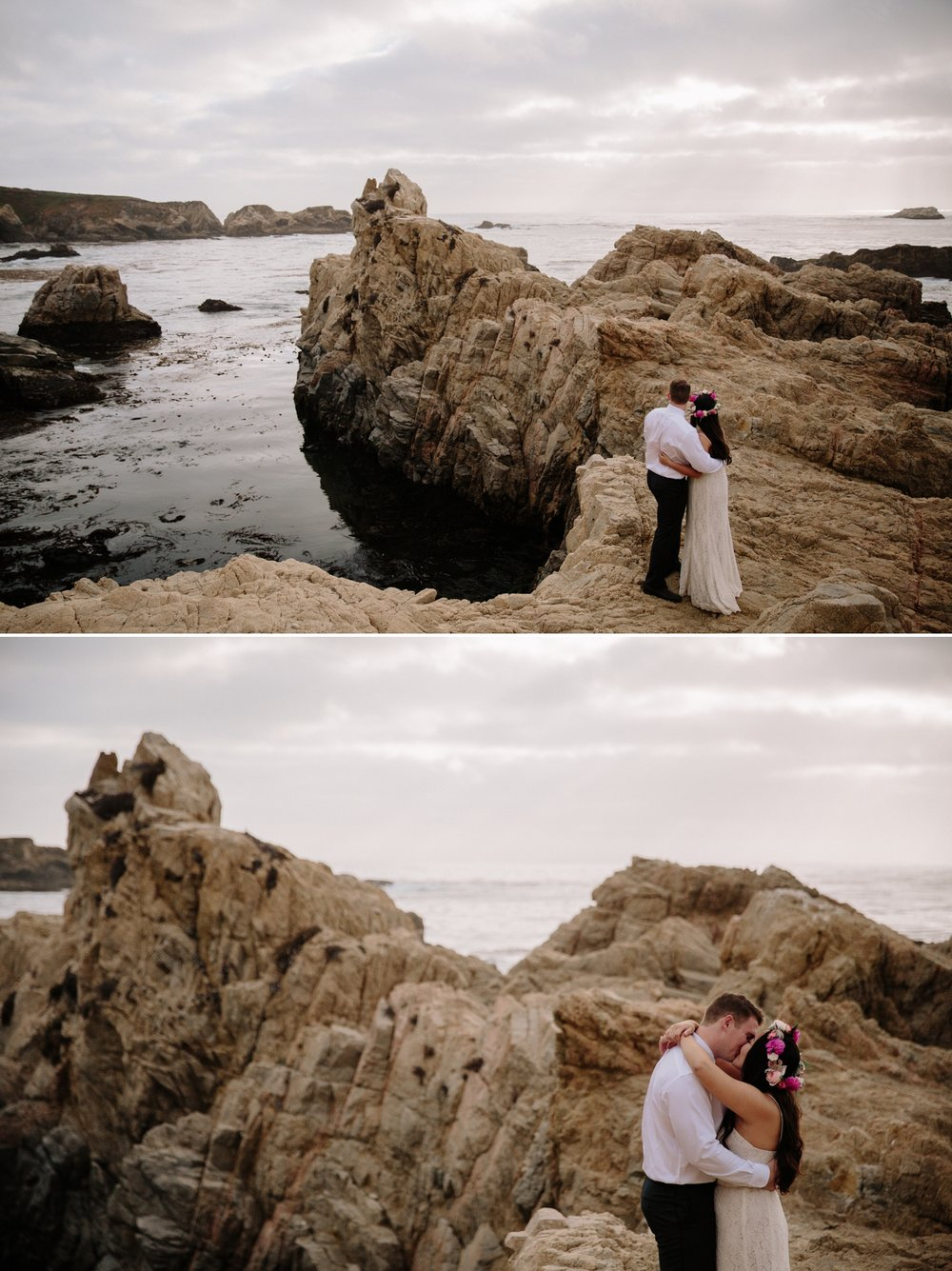 Wedding portraits at Garrapata in Carmel by San Diego Photographer Paige Nelson