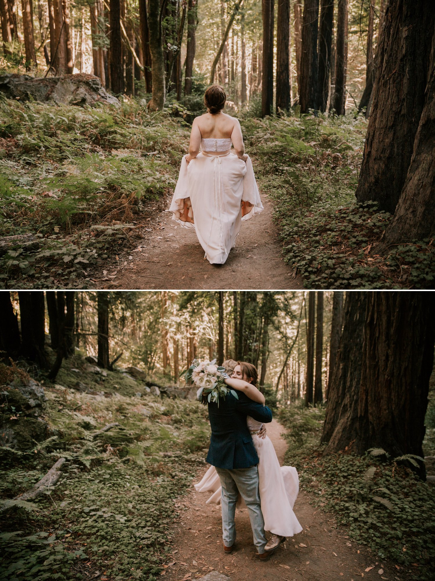 Limekiln State park elopement Big Sur