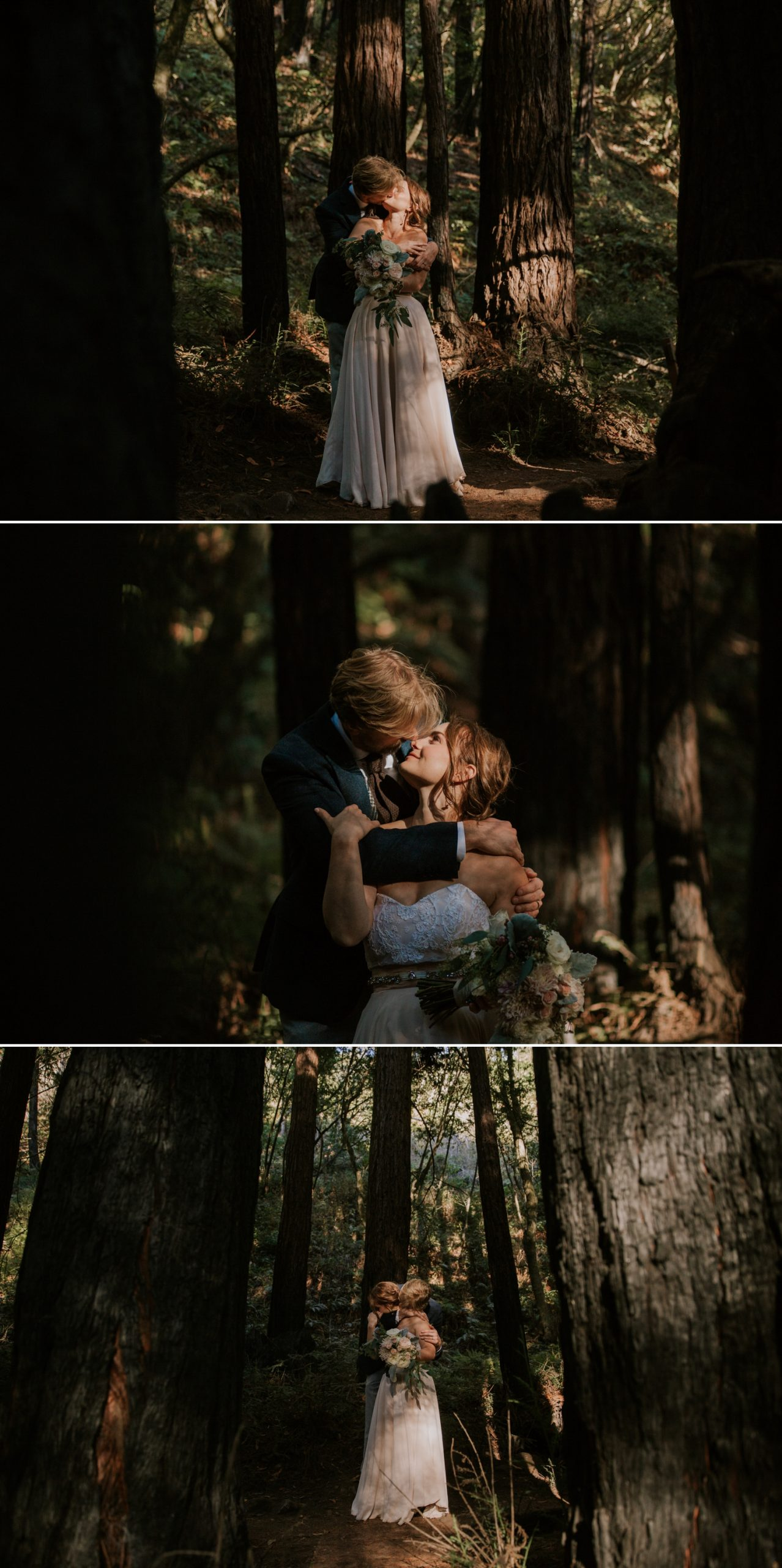 redwood elopement in Big Sur