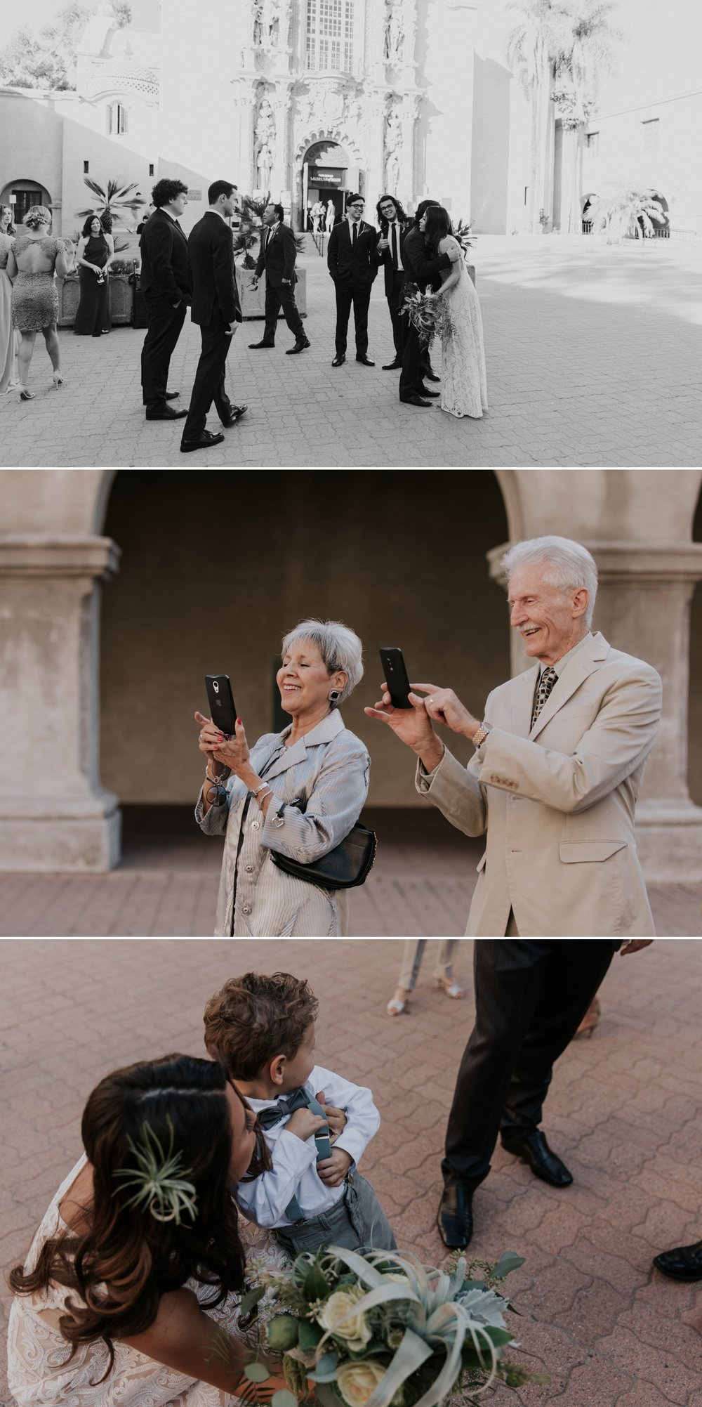 Wedding party portraits in Balboa park by San Diego photographer Paige Nelson