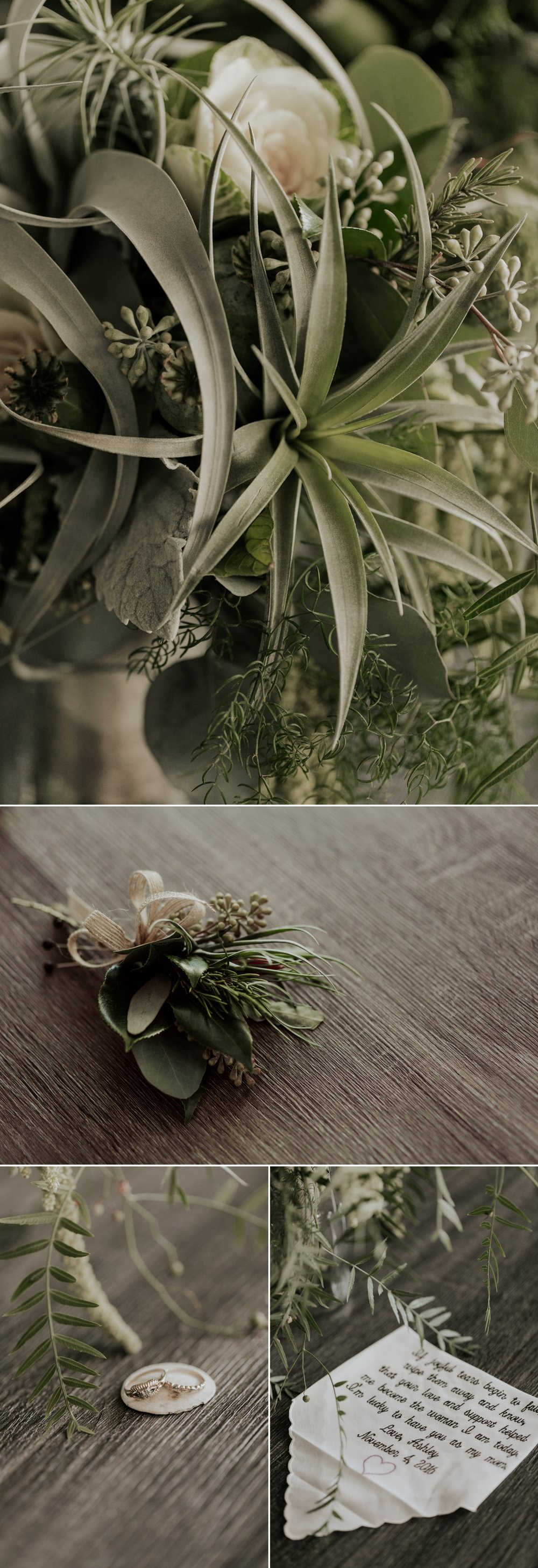 Succulent bouquet for modern San Diego wedding by Paige Nelson