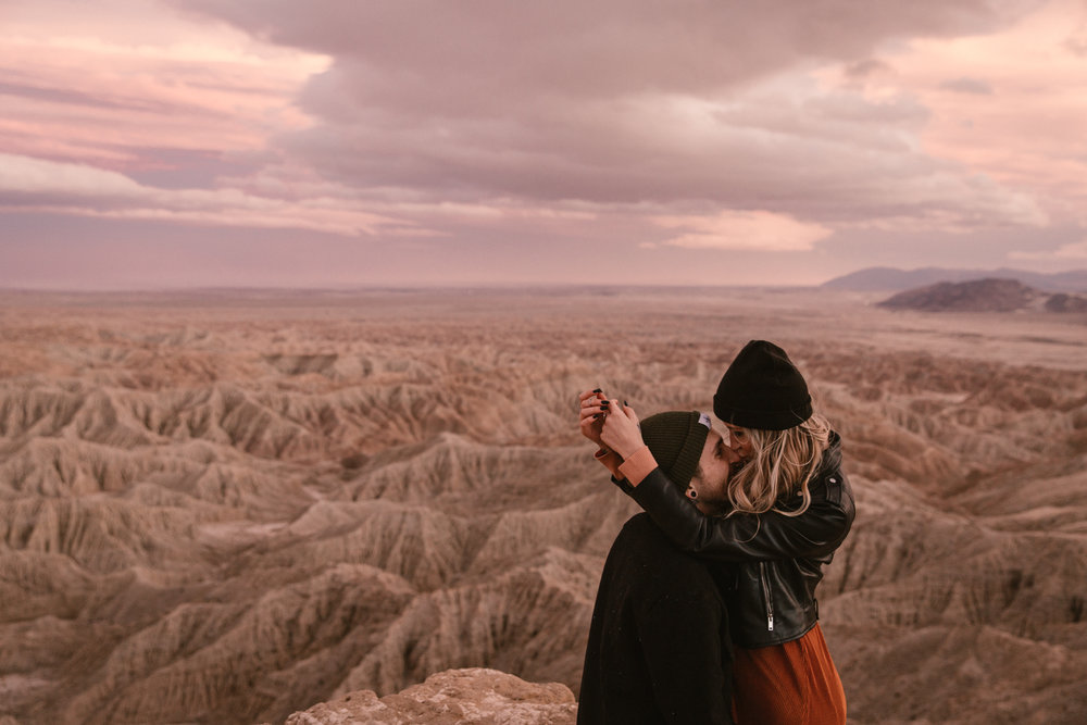 Font's Point engagement in Anza Borrego by San Diego photographer Paige Nelson