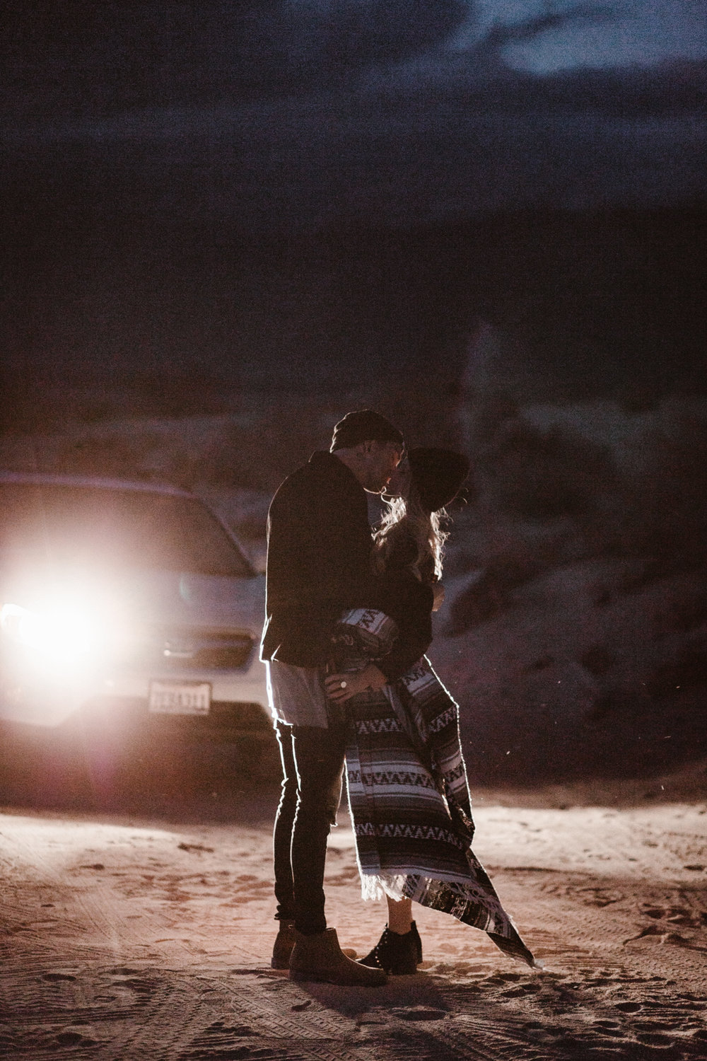Desert couple portraits in Anza Borrego by San Diego photographer Paige Nelson
