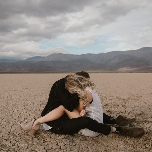 Desert couples portraits in Anza Borrego