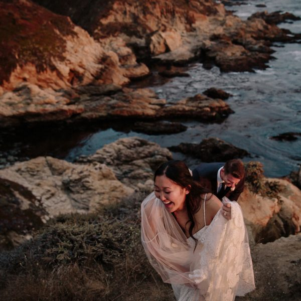 Wedding Portraits at Garrapata State Park in Carmel