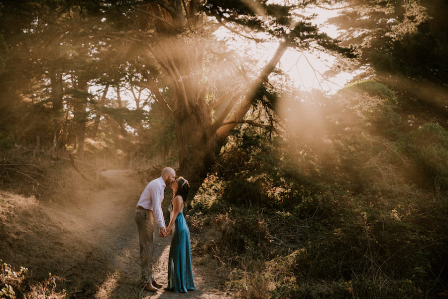 Sutro Baths engagement at Land's End by Paige Nelson