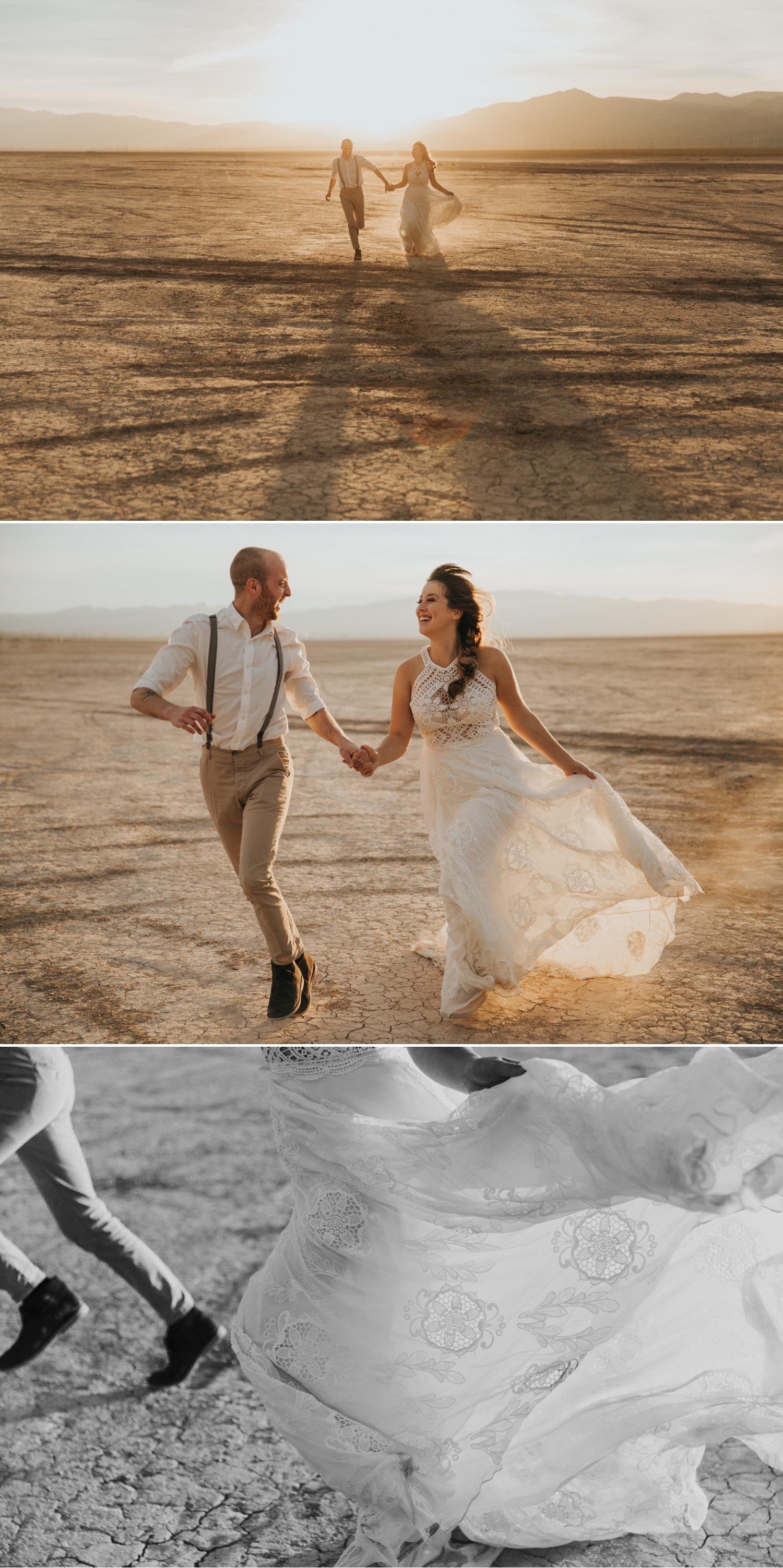Styled elopement at Dry Lake Bed in Boulder Nevada by Paige Nelson