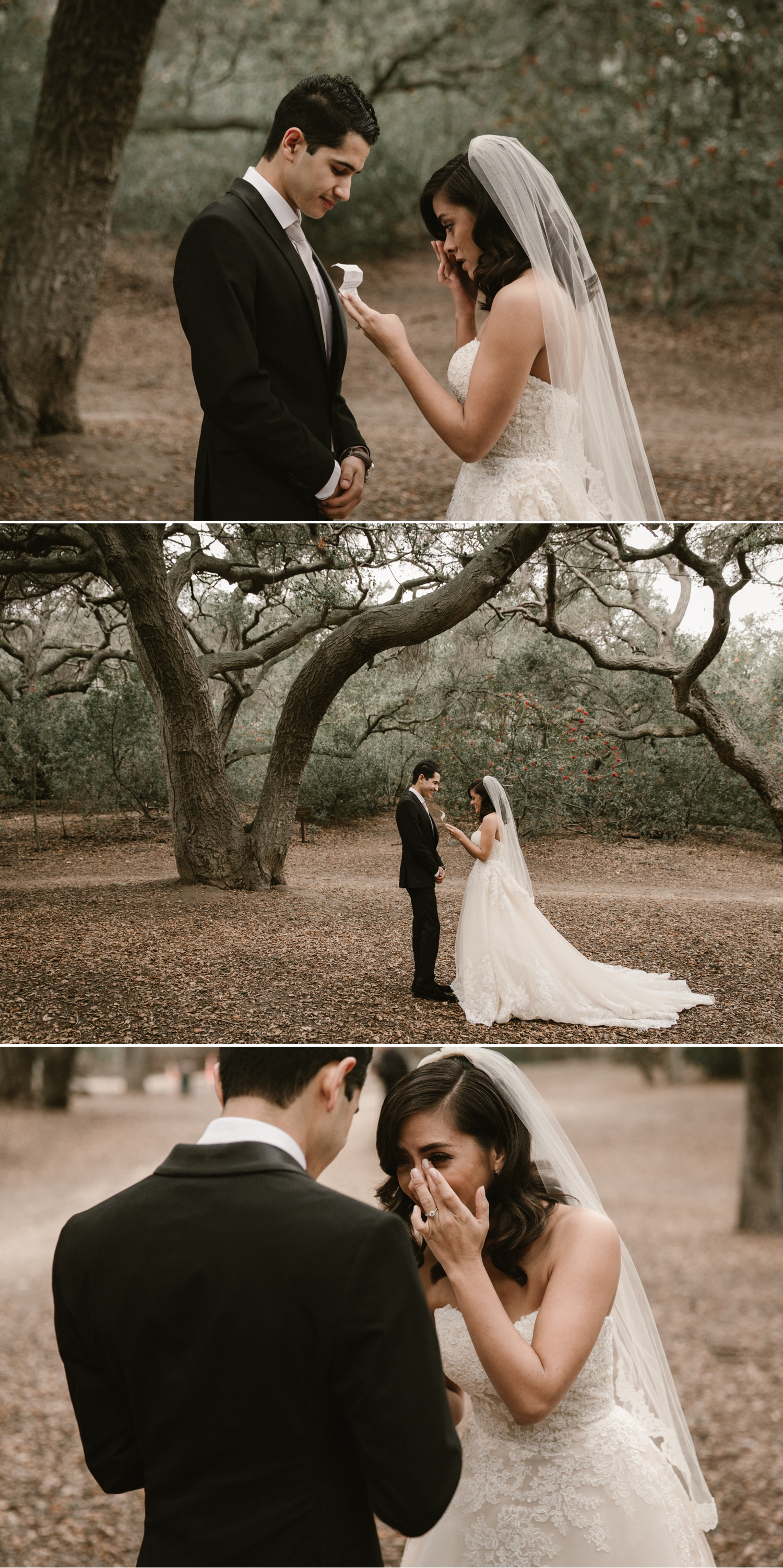 Vow exchange at Oak Canyon Nature Center in Anaheim by Paige Nelson