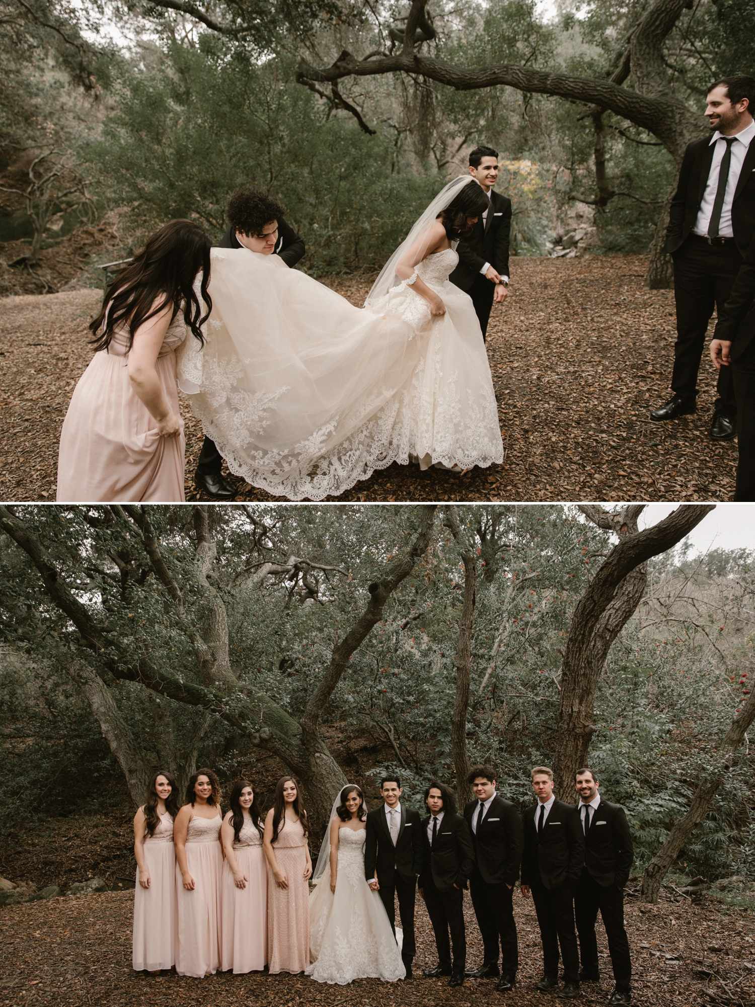 Wedding party formals at Oak Canyon Nature Center by Paige Nelson