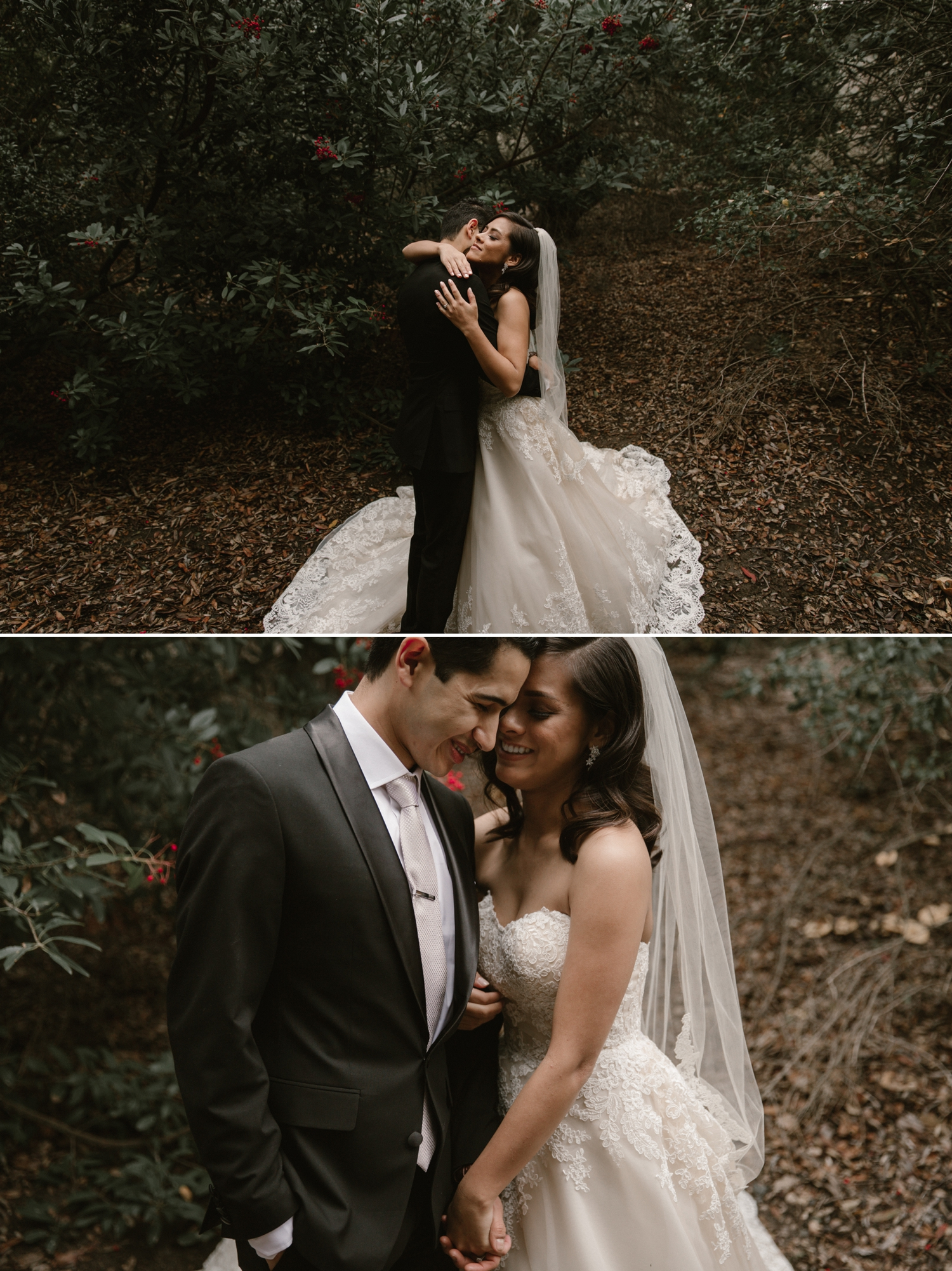 Bride and groom portraits at Oak Canyon Nature Center by Paige Nelson