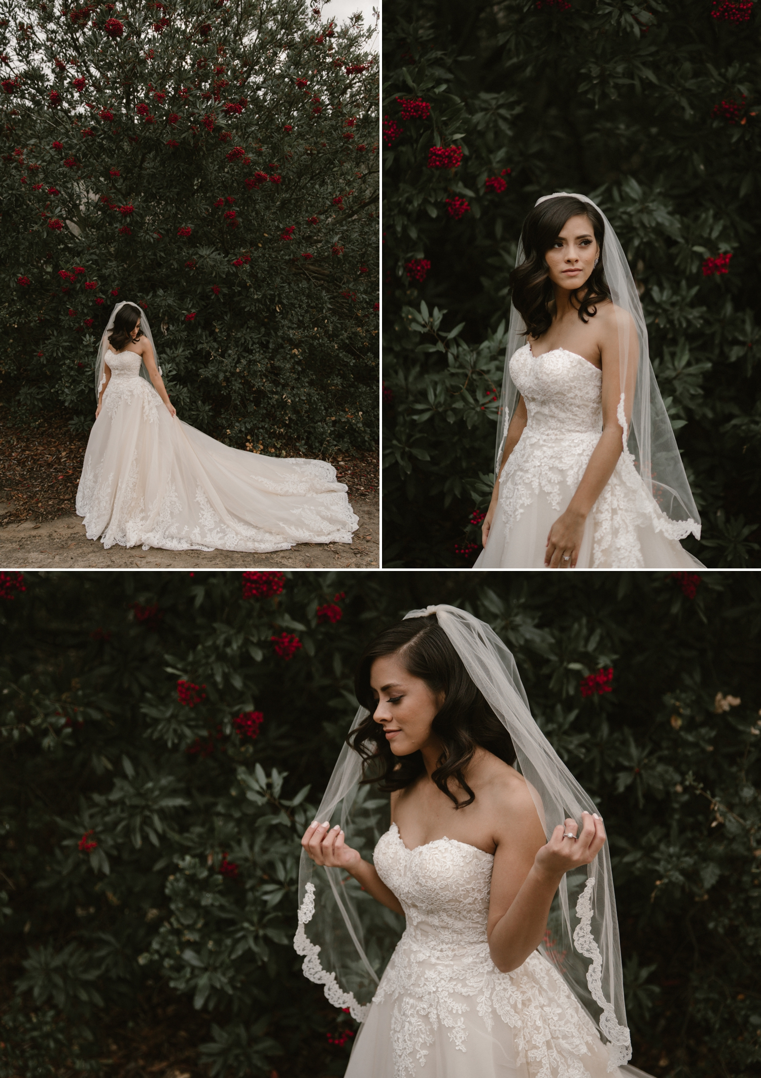 Bridal portraits at Oak Canyon Nature Center by Paige Nelson