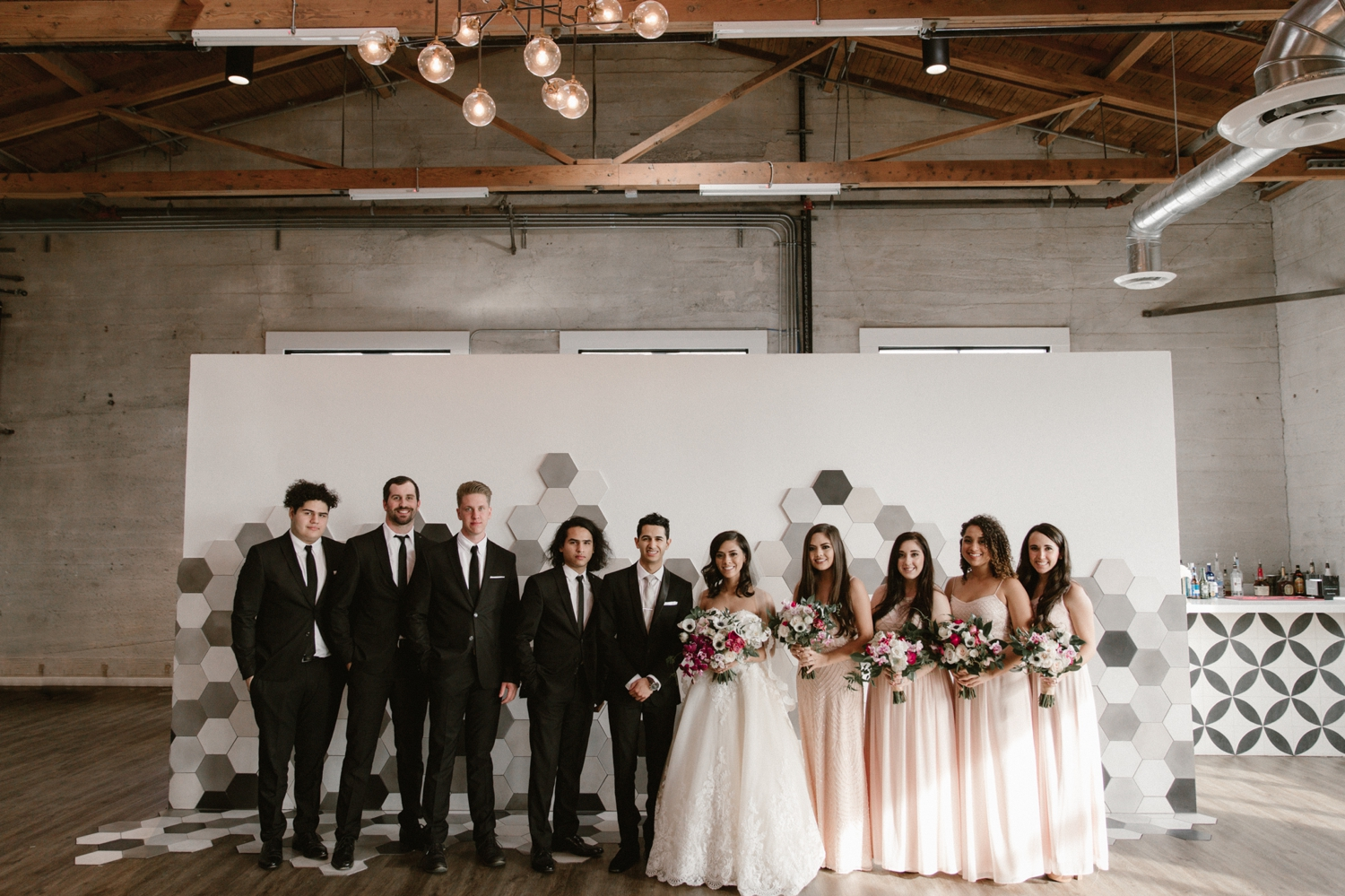 Wedding party at the 1912 wedding in Santa Ana by Paige Nelson