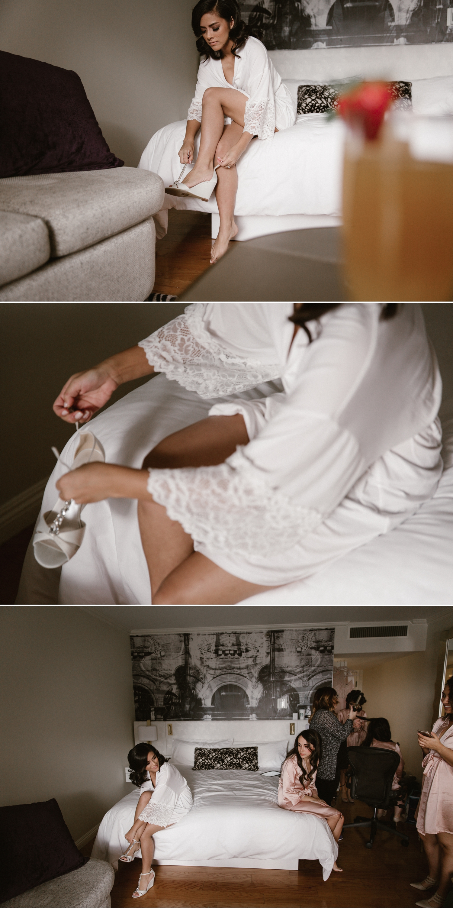Bridal preparation at Avenue of the Arts in Santa Ana by Paige Nelson