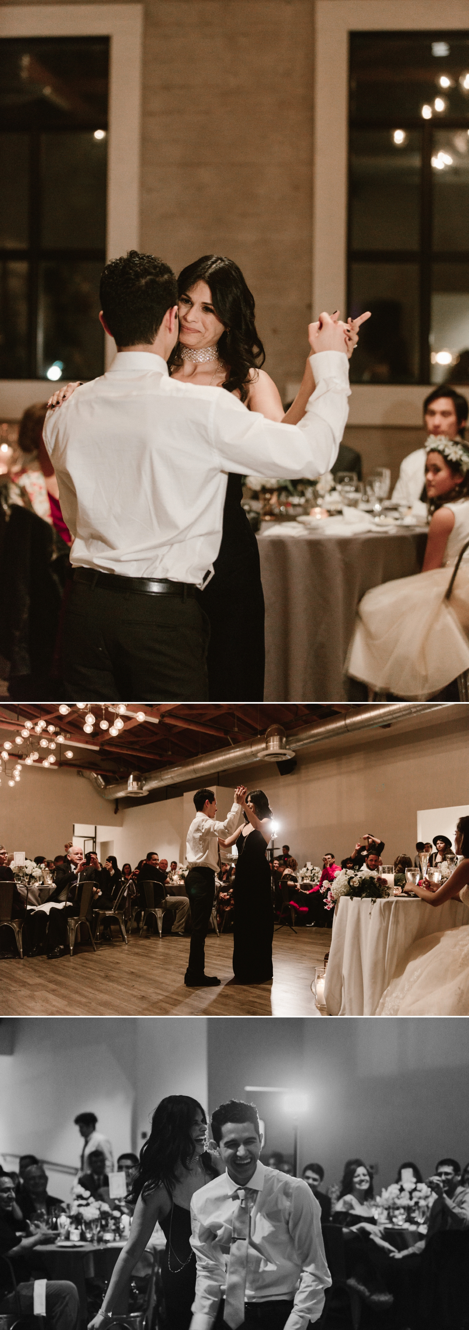 Mother son dance, Indoor wedding reception at 1912 in Santa Ana by Paige Nelson
