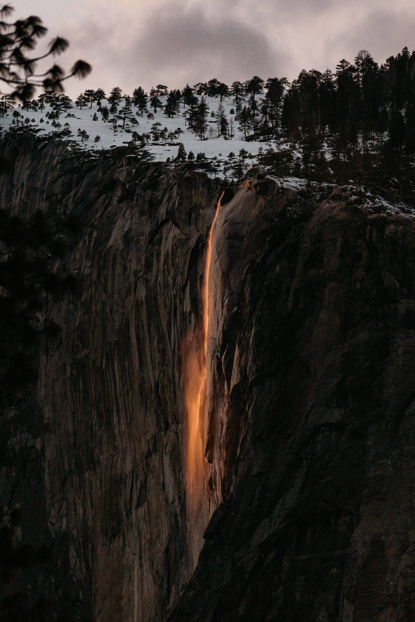Firefall at Horsetail fall in Yosemite by Paige Nelson