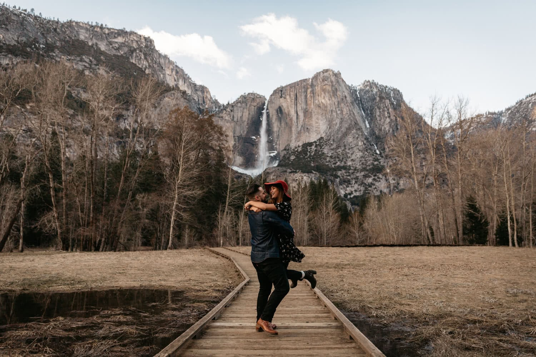 Yosemite engagement Paige Nelson