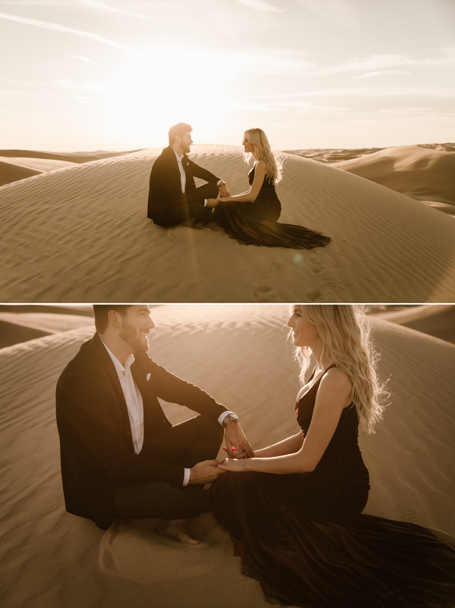 Sand dunes engagement in Glamis, Kailee and Austin