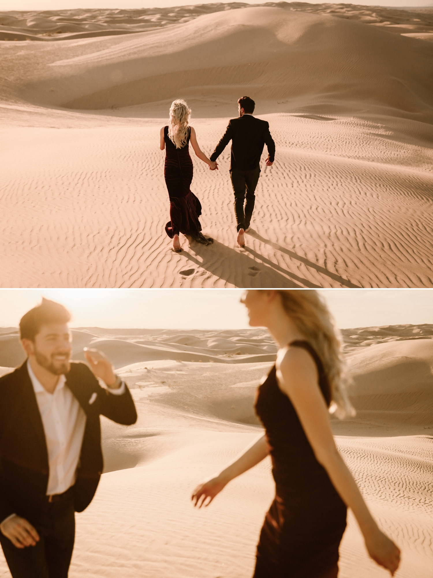 Sand dunes engagement by Paige Nelson Photography