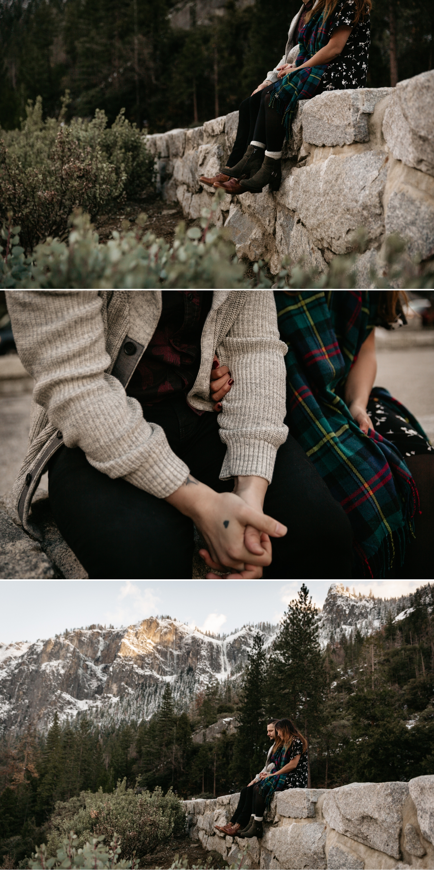 Yosemite engagement at tunnel view by Paige Nelson, Nixie and Mike