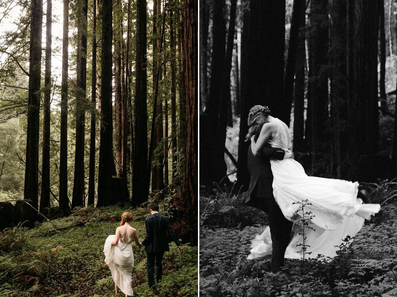 Intimate forest wedding in Nisene Marks Santa Cruz by Paige Nelson