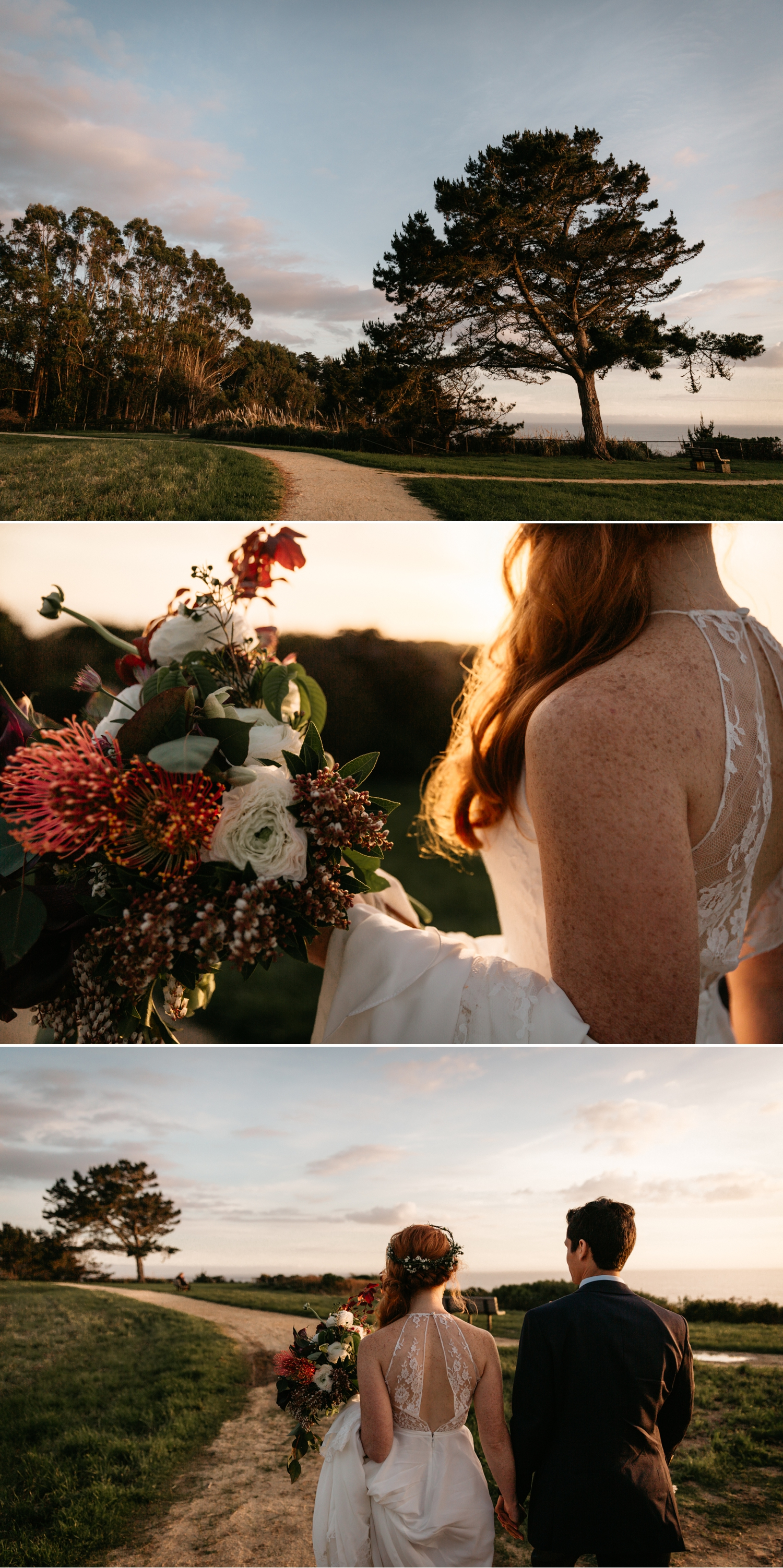 California coast ocean wedding portraits by Paige Nelson