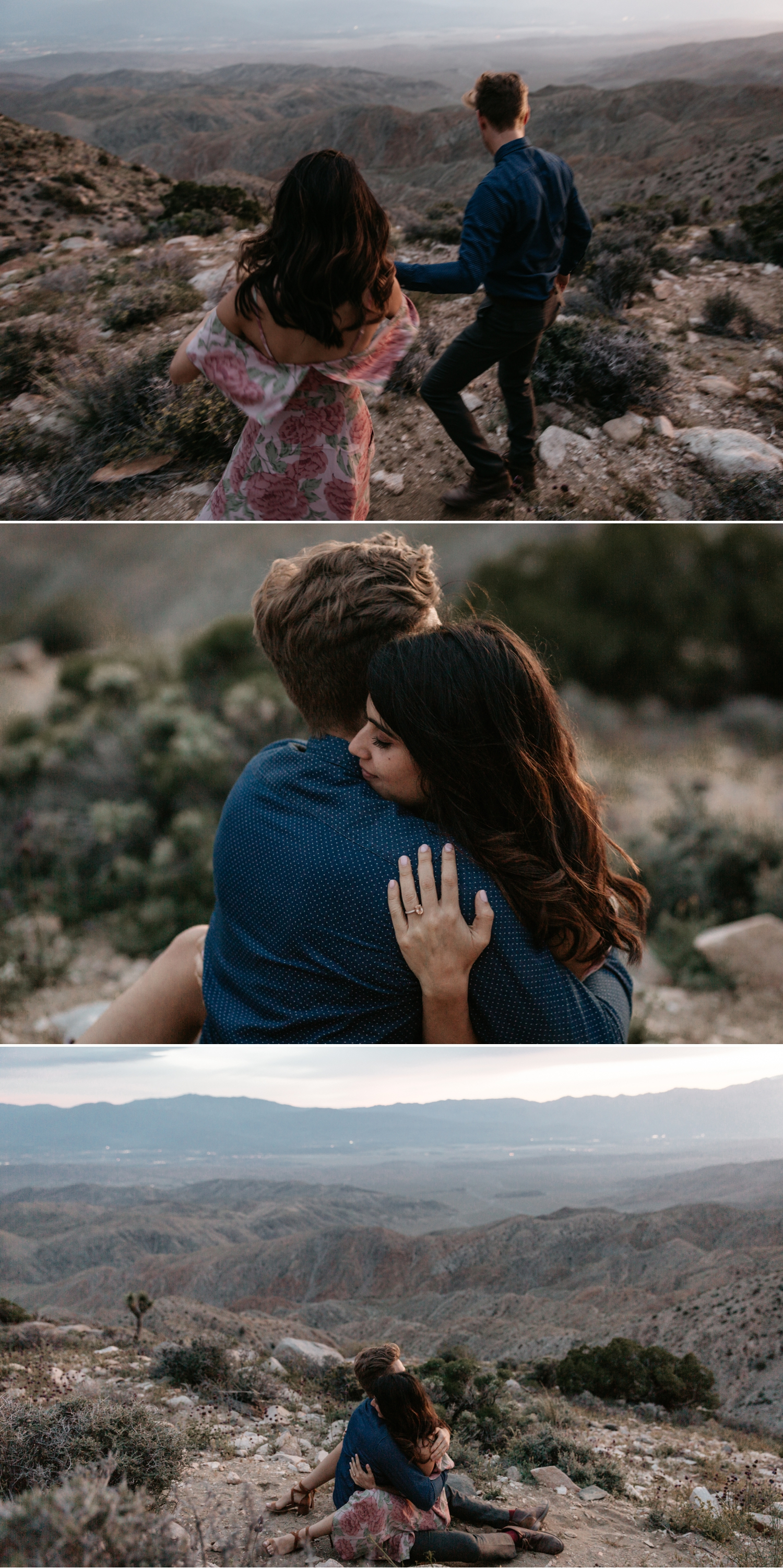 Joshua Tree engagement at Keys View Amitis and Nico by Paige Nelson Photography