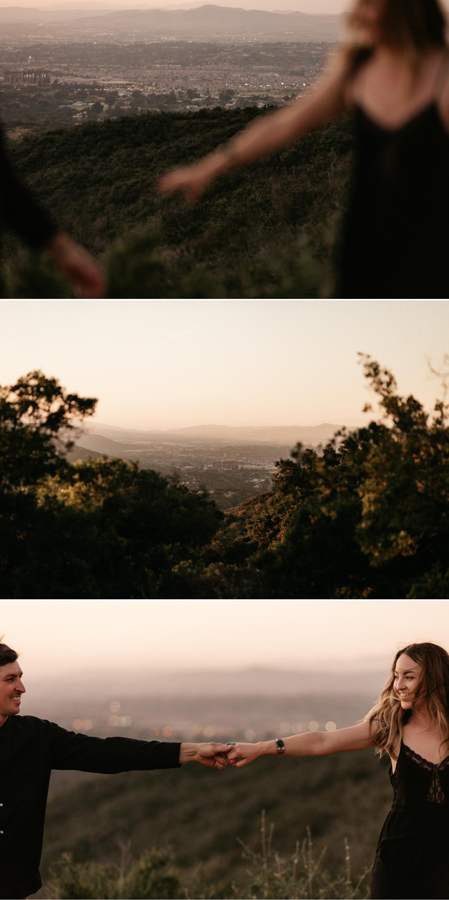 Sunset engagement in Pala Temecula San Diego, Kerri and Jared