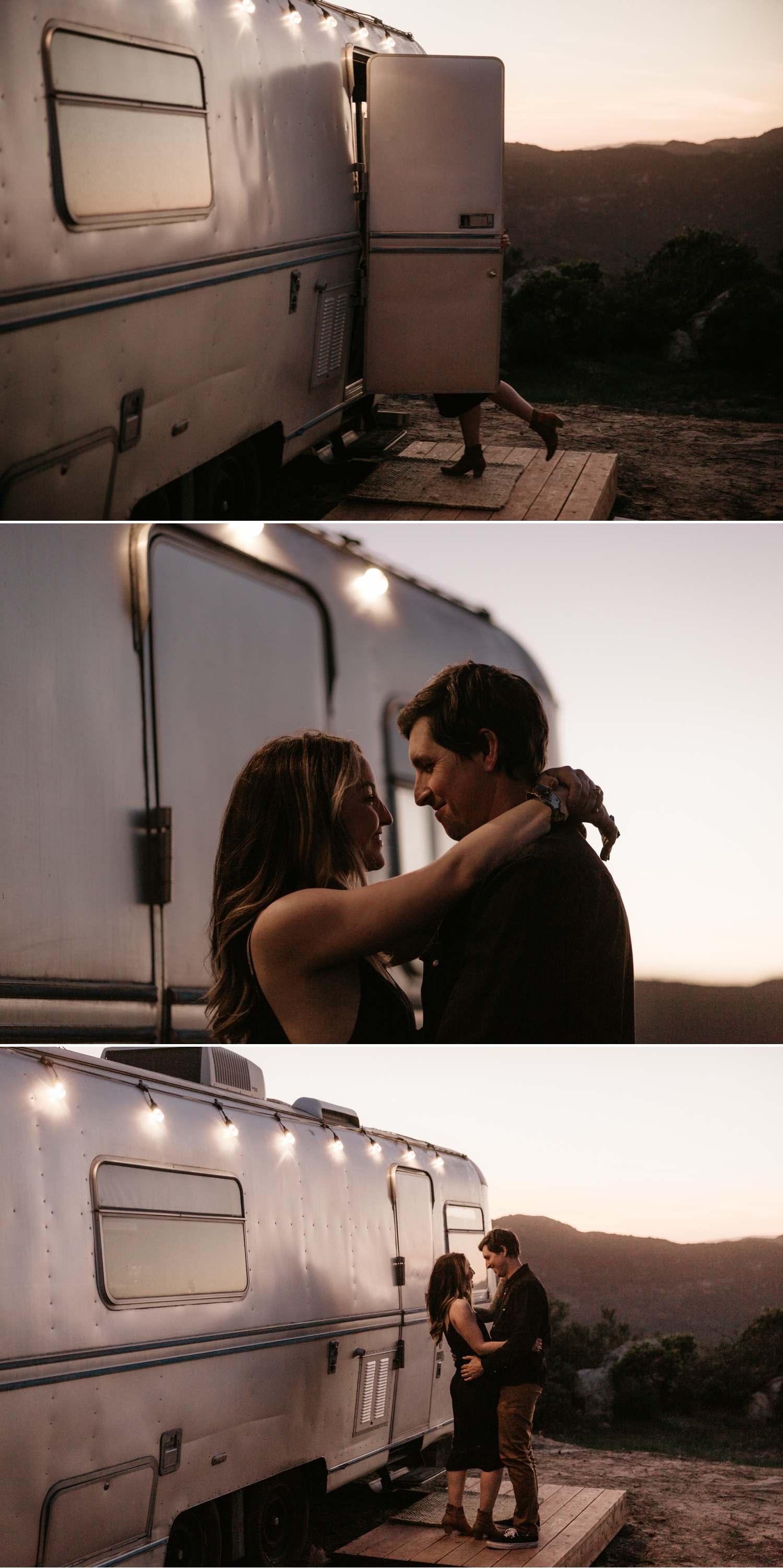 Airstream engagement in Pala Temecula San Diego by Paige Nelson