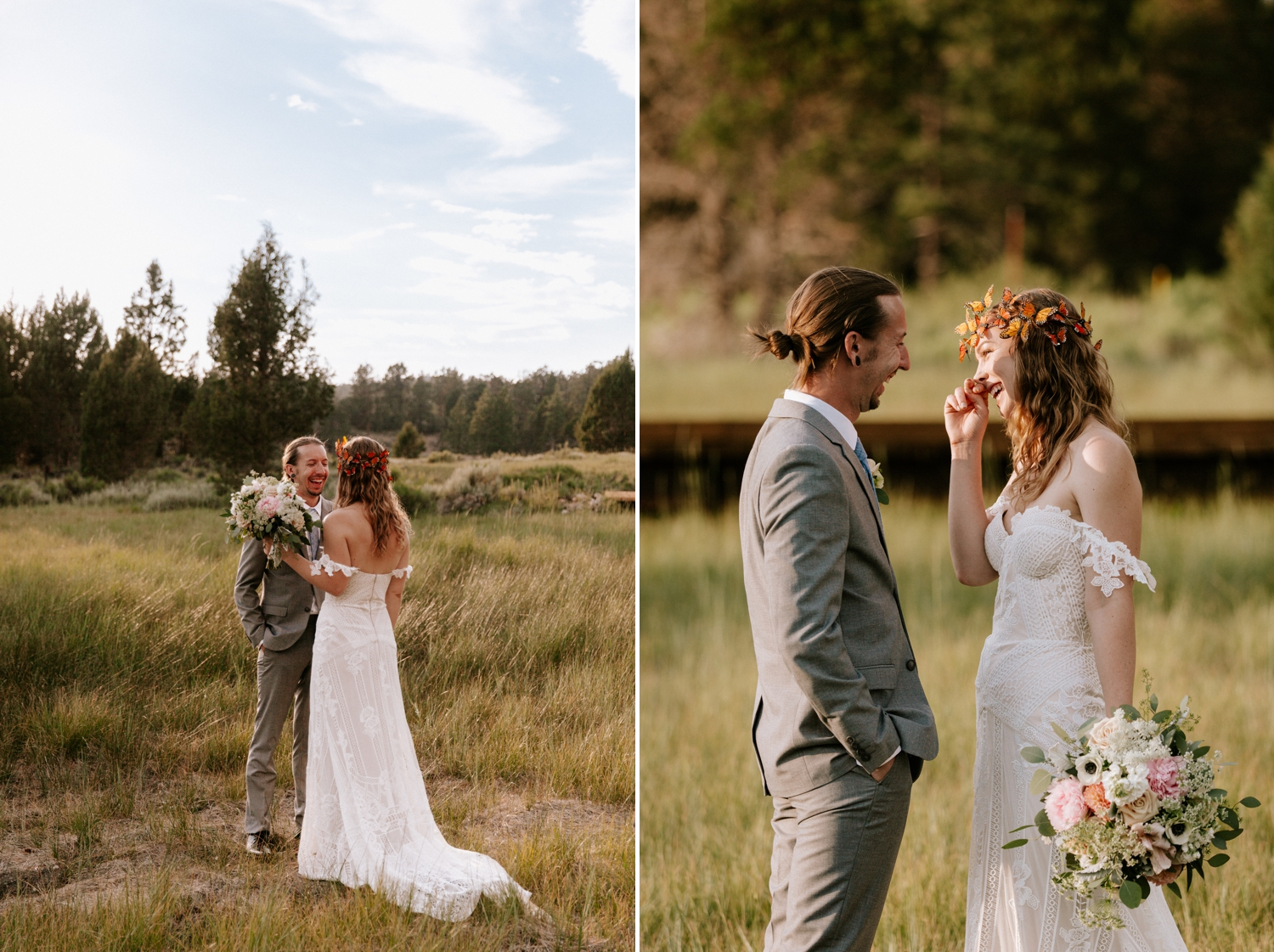 First look for lakeside elopement in Big Bear mountains by Paige Nelson Photography