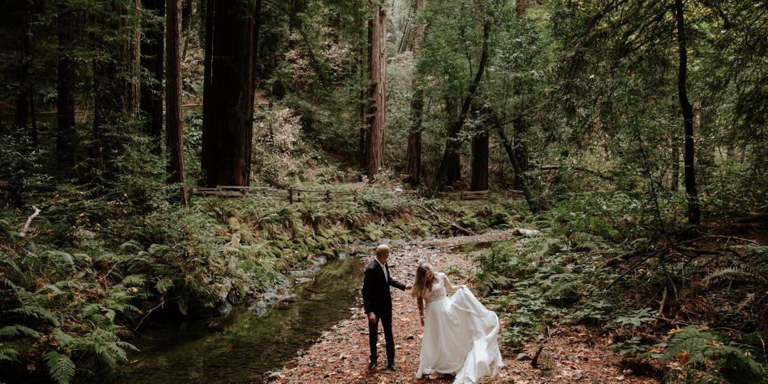 Intimate Wedding In The San Francisco Muir Woods Hannah Nick